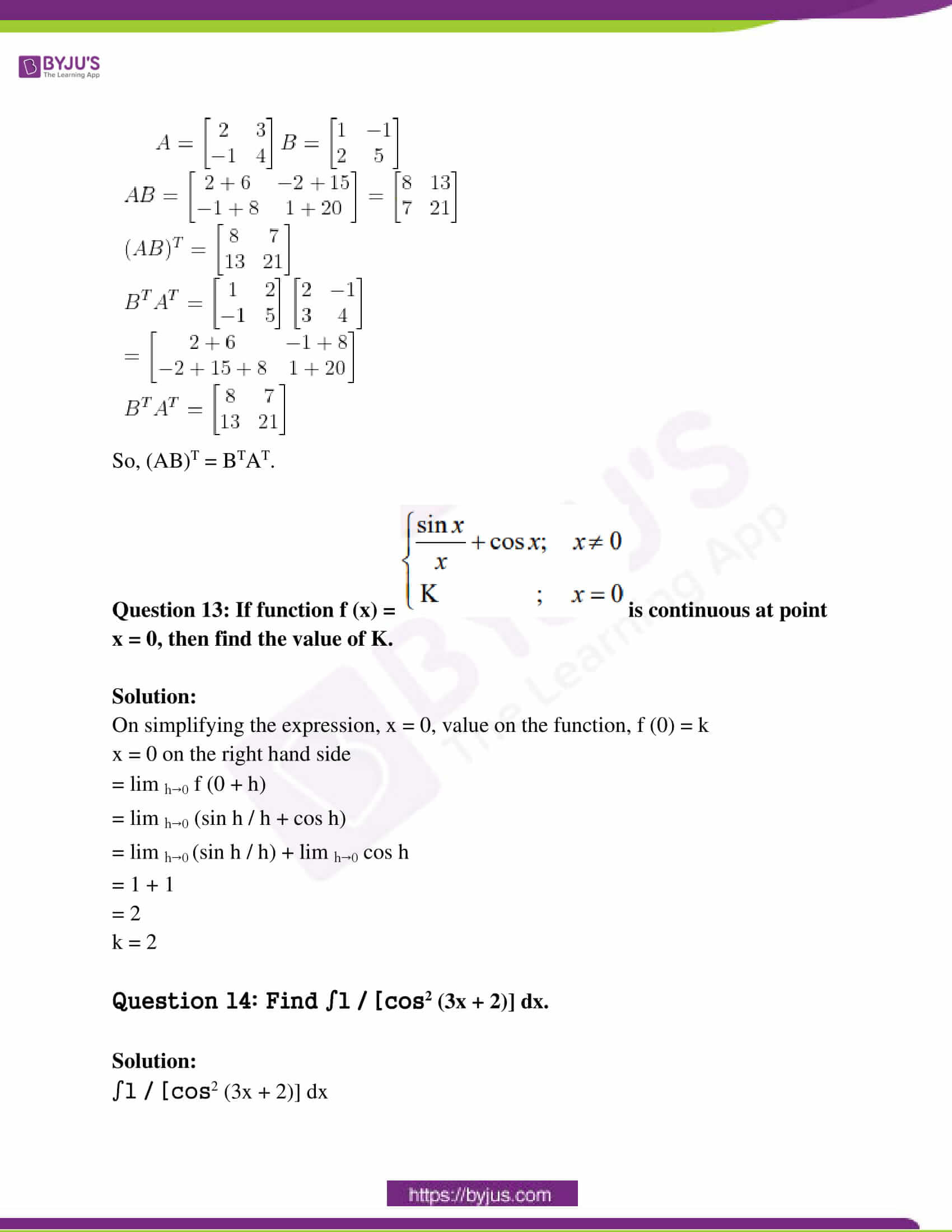 rajasthan class 12 exam question paper solutions march 2019 06