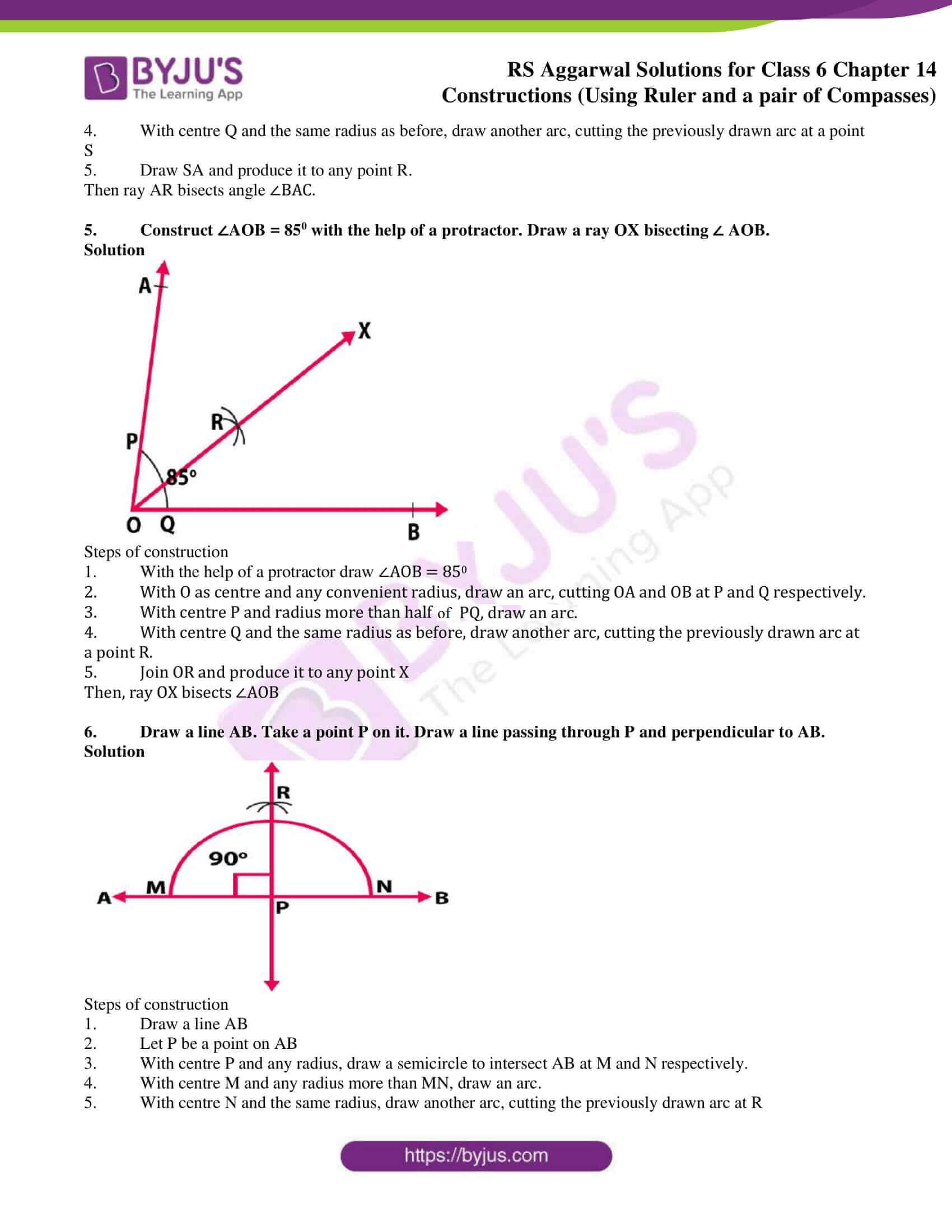 rs aggarwal solution class 6 maths chapter 14
