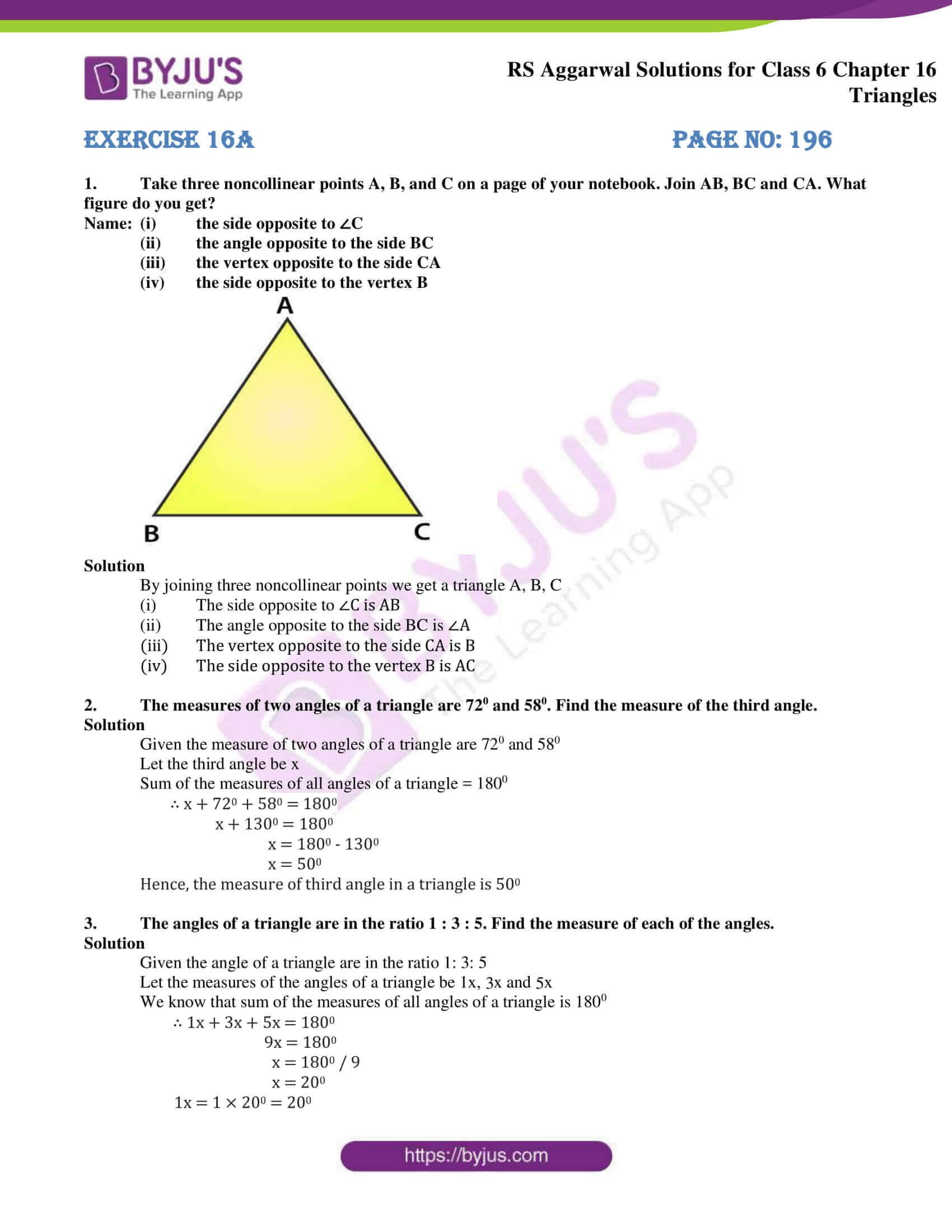 rs aggarwal solution class 6 maths chapter 16