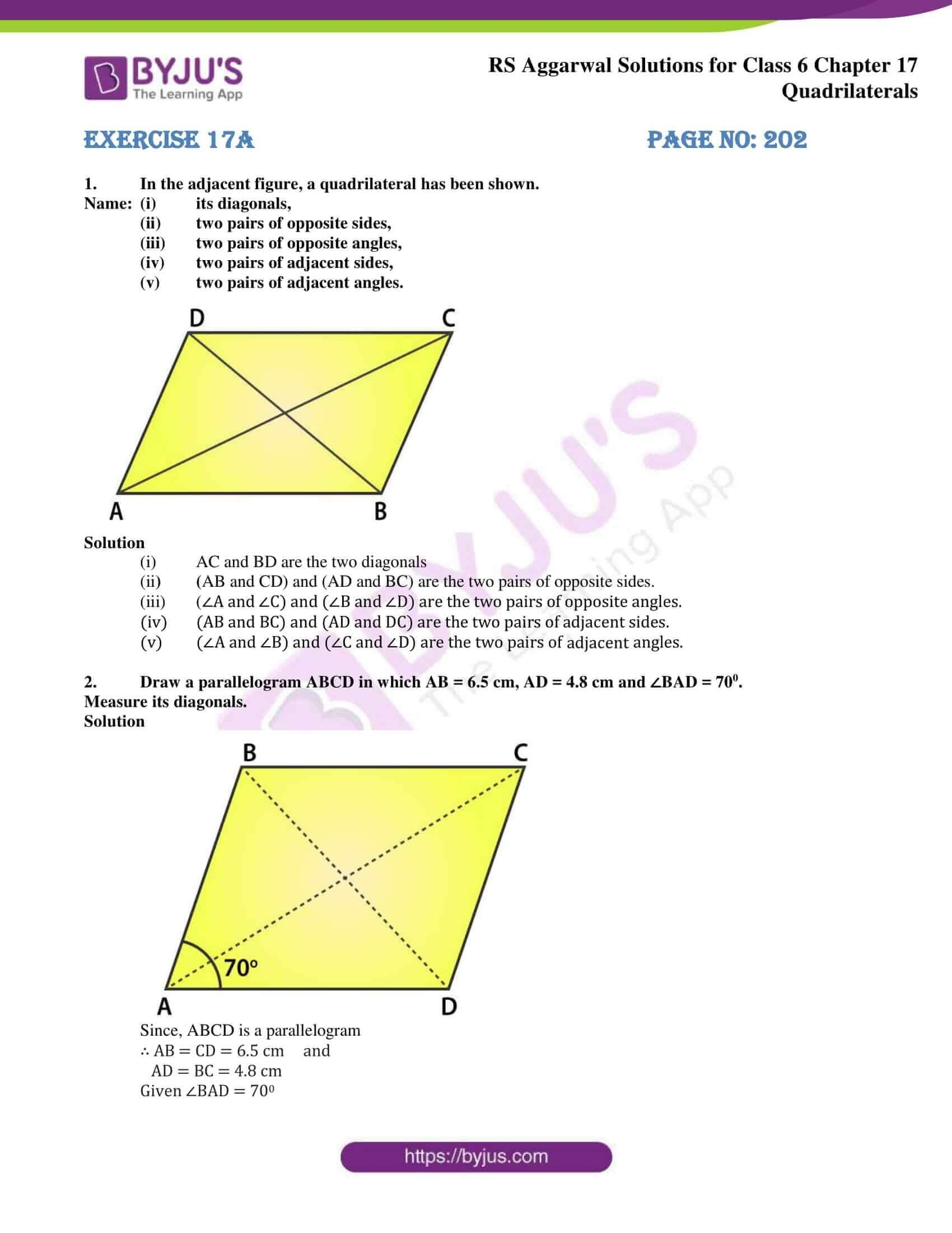 rs aggarwal solution class 6 maths chapter 17