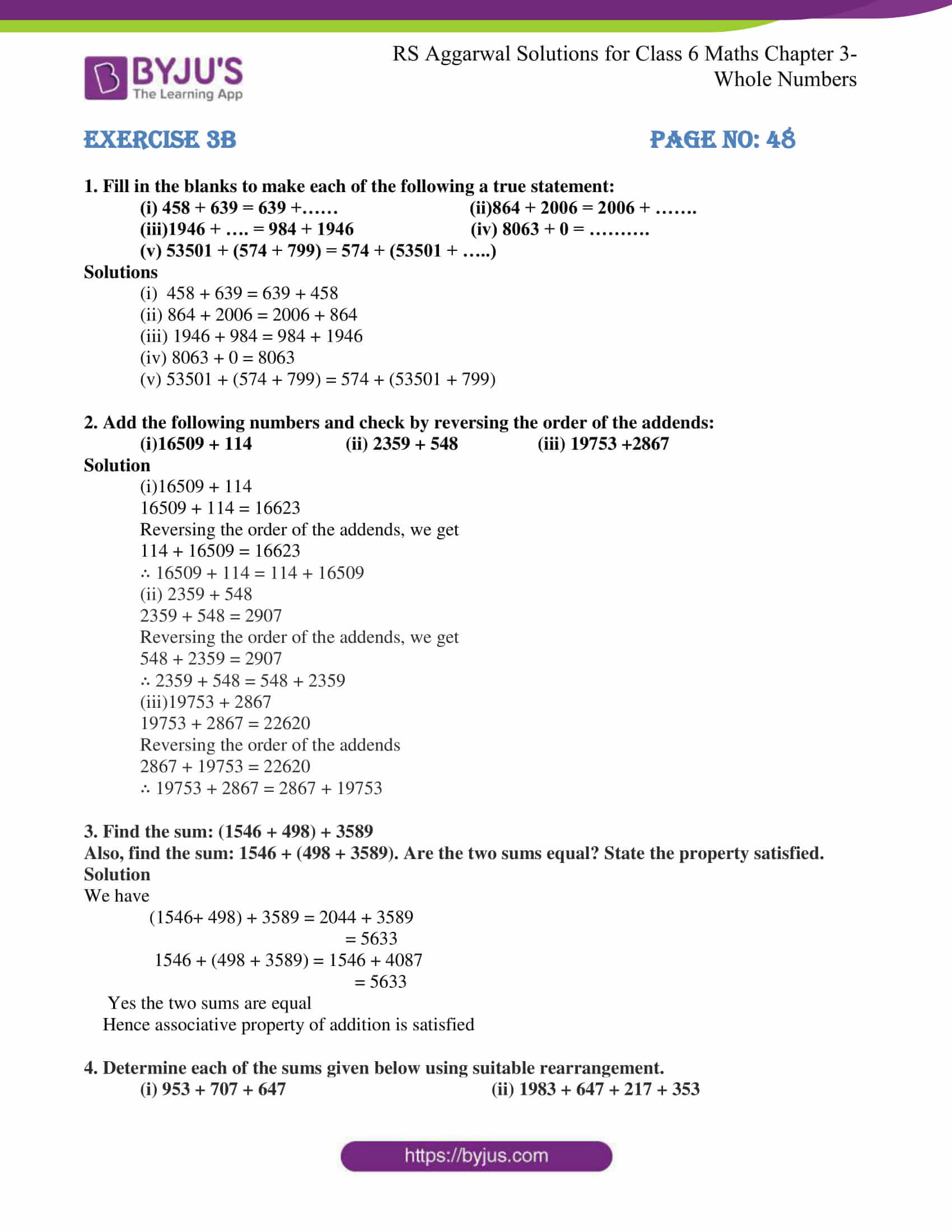 rs aggarwal soln for class 6 maths chapter 3 whole numbers ex b 1