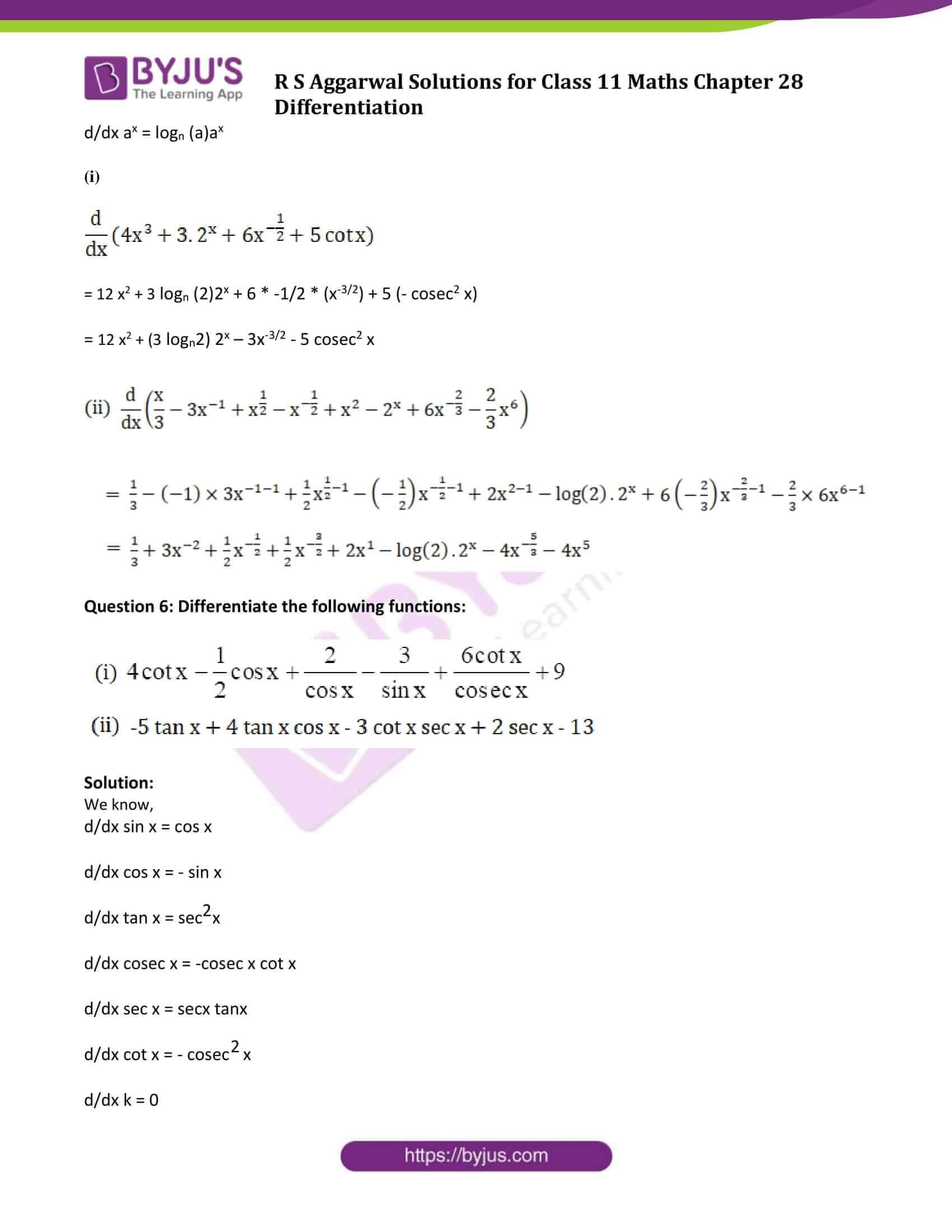 rs aggarwal solution class 11 maths chapter 28 ex a