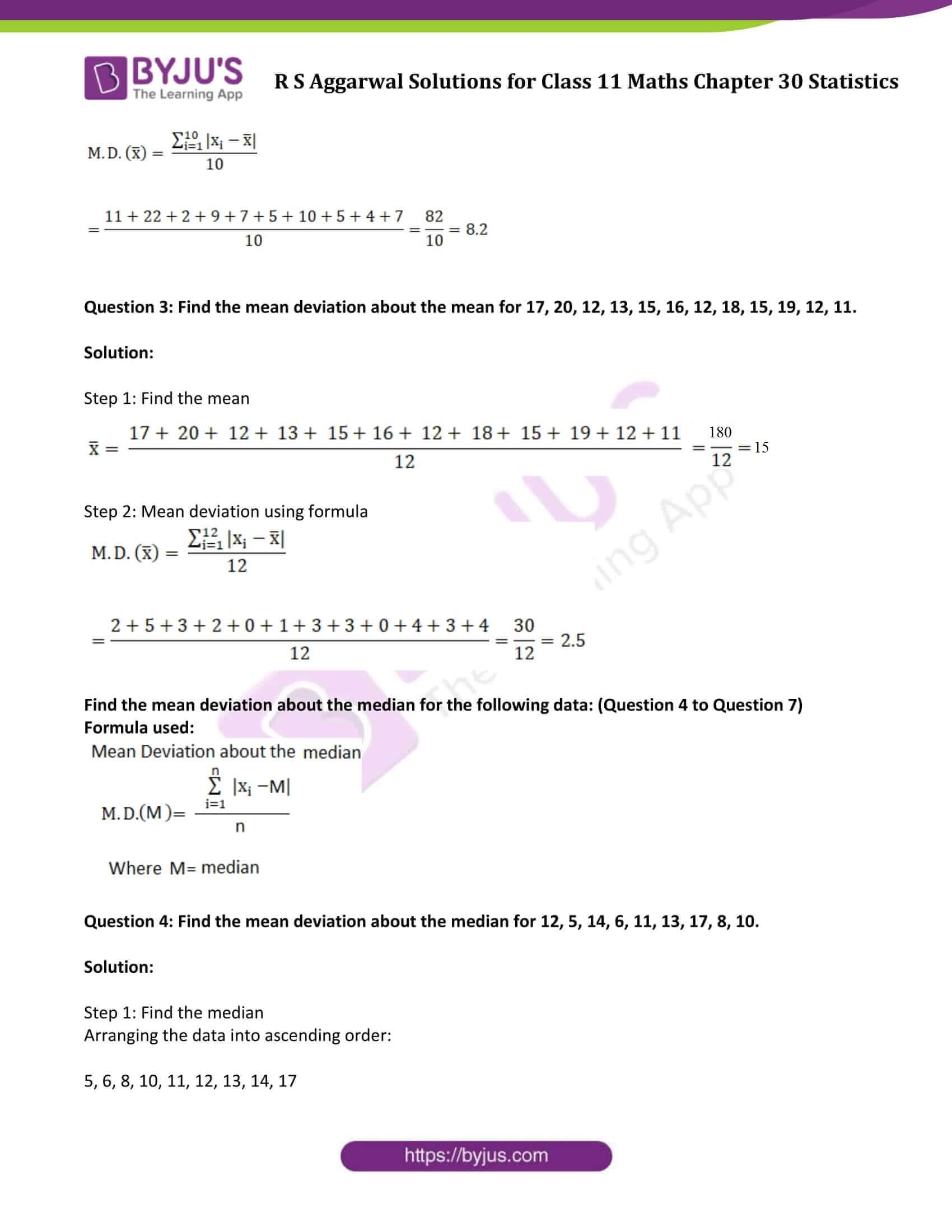 rs aggarwal solution class 11 maths chapter 30 ex a