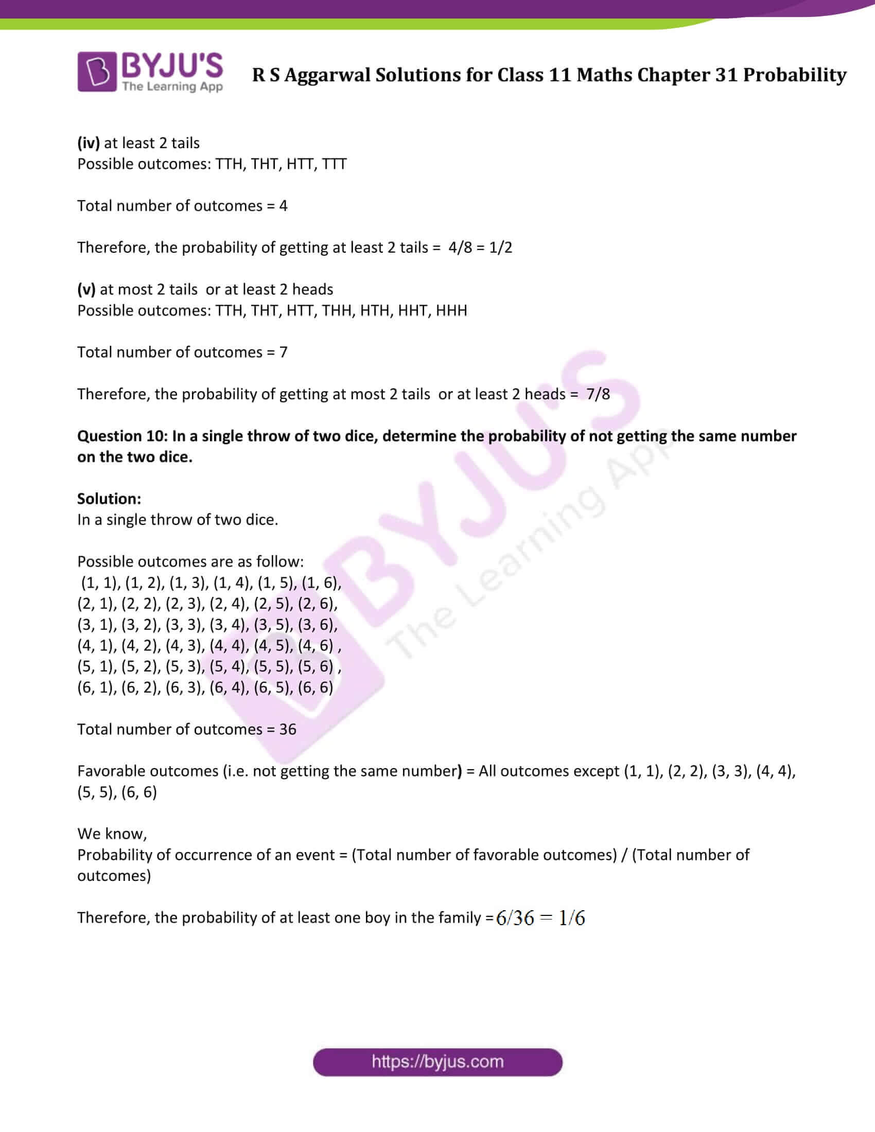 rs aggarwal solution class 11 maths chapter 31 ex a