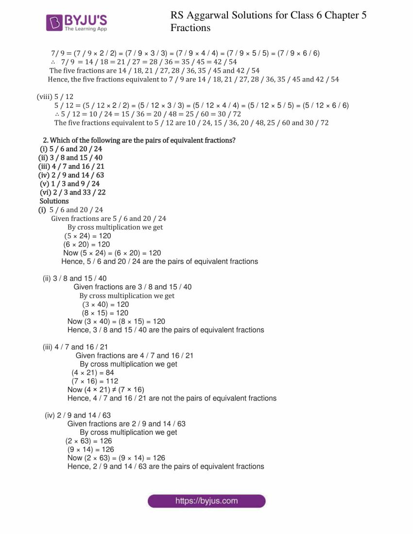 rs aggarwal solution class 6 maths chapter 5 ex 5c