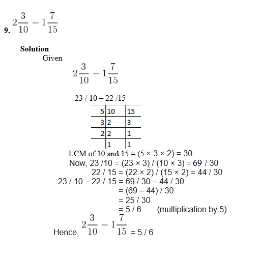 RS Aggarwal Solutions For Class 6 Maths Chapter 5 Exercise 5F - 7