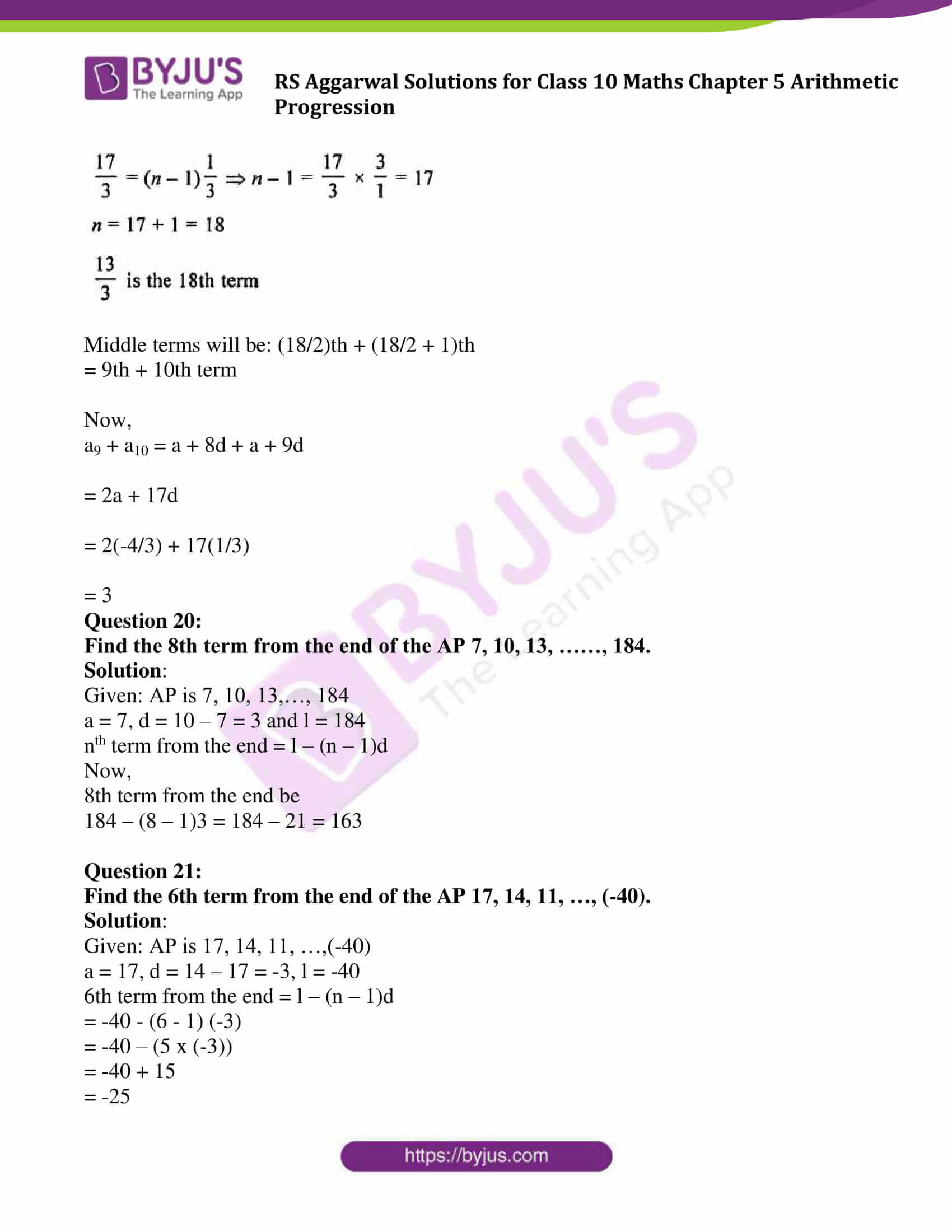 rsaggarwal solution class 10 maths chapter 5 exercise 5a 16