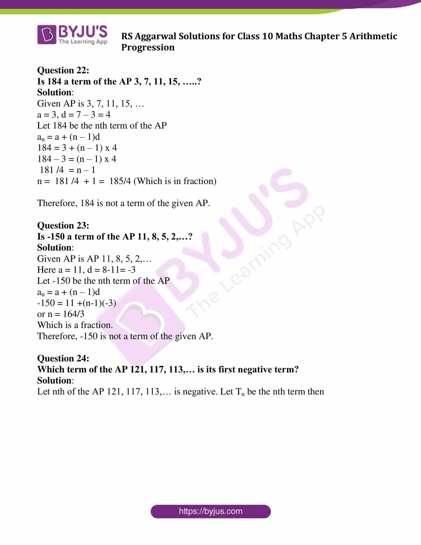 rsaggarwal solution class 10 maths chapter 5 exercise 5a 17
