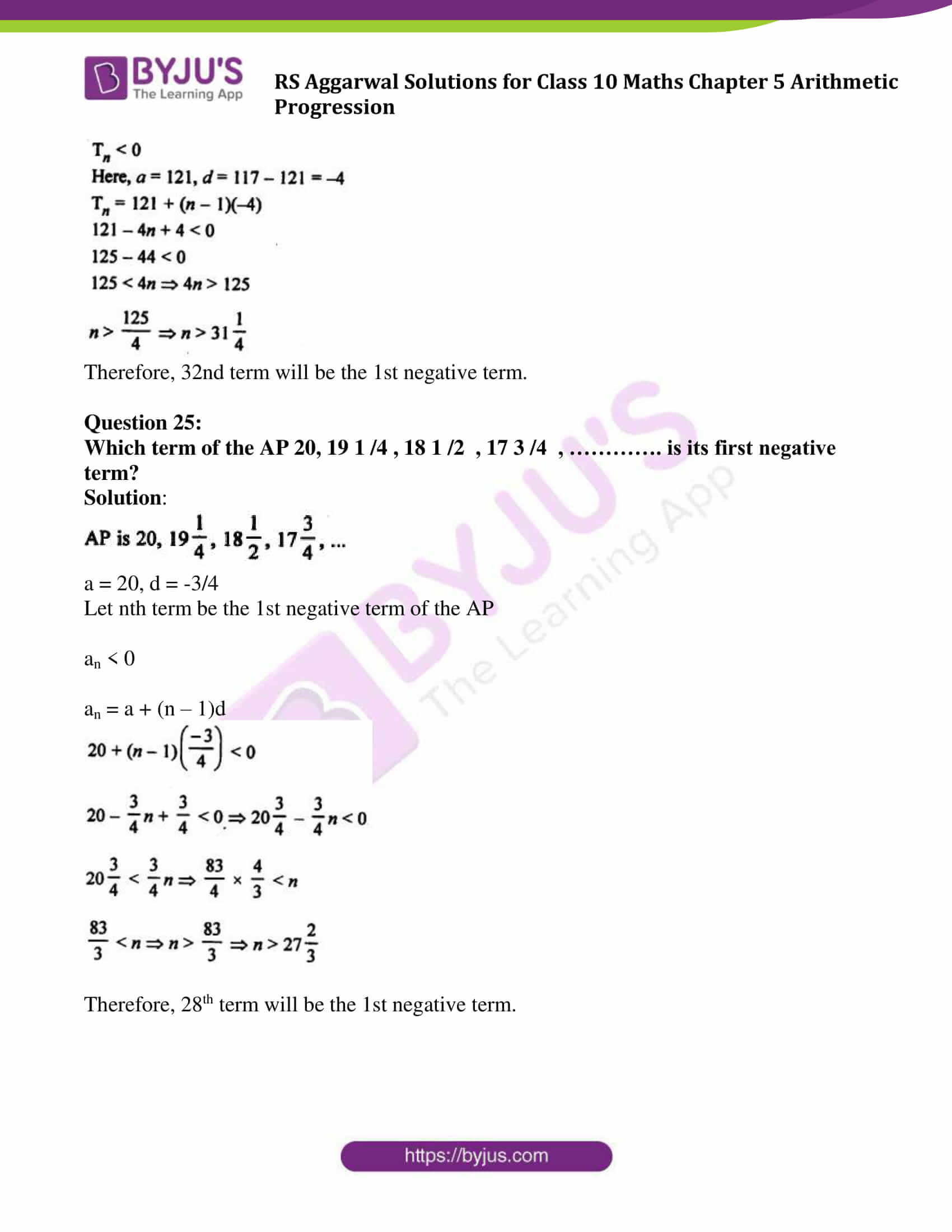 rsaggarwal solution class 10 maths chapter 5 exercise 5a 18
