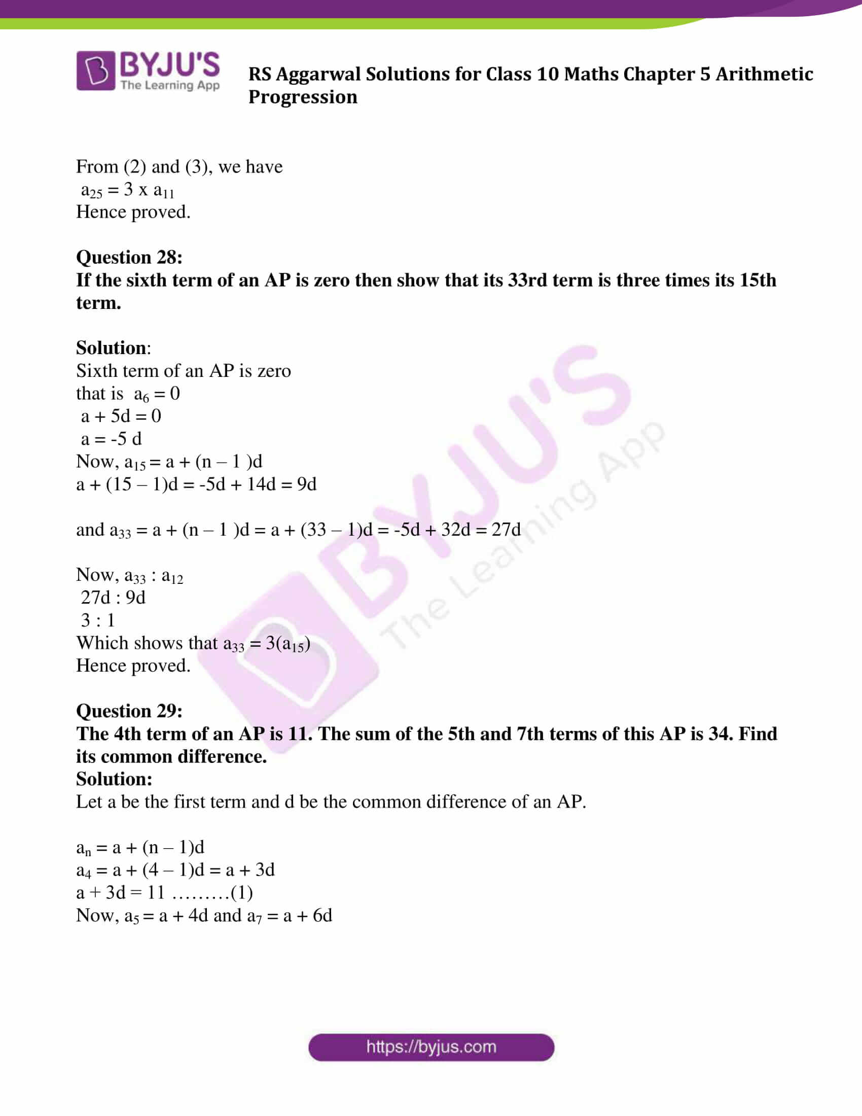 rsaggarwal solution class 10 maths chapter 5 exercise 5a 20