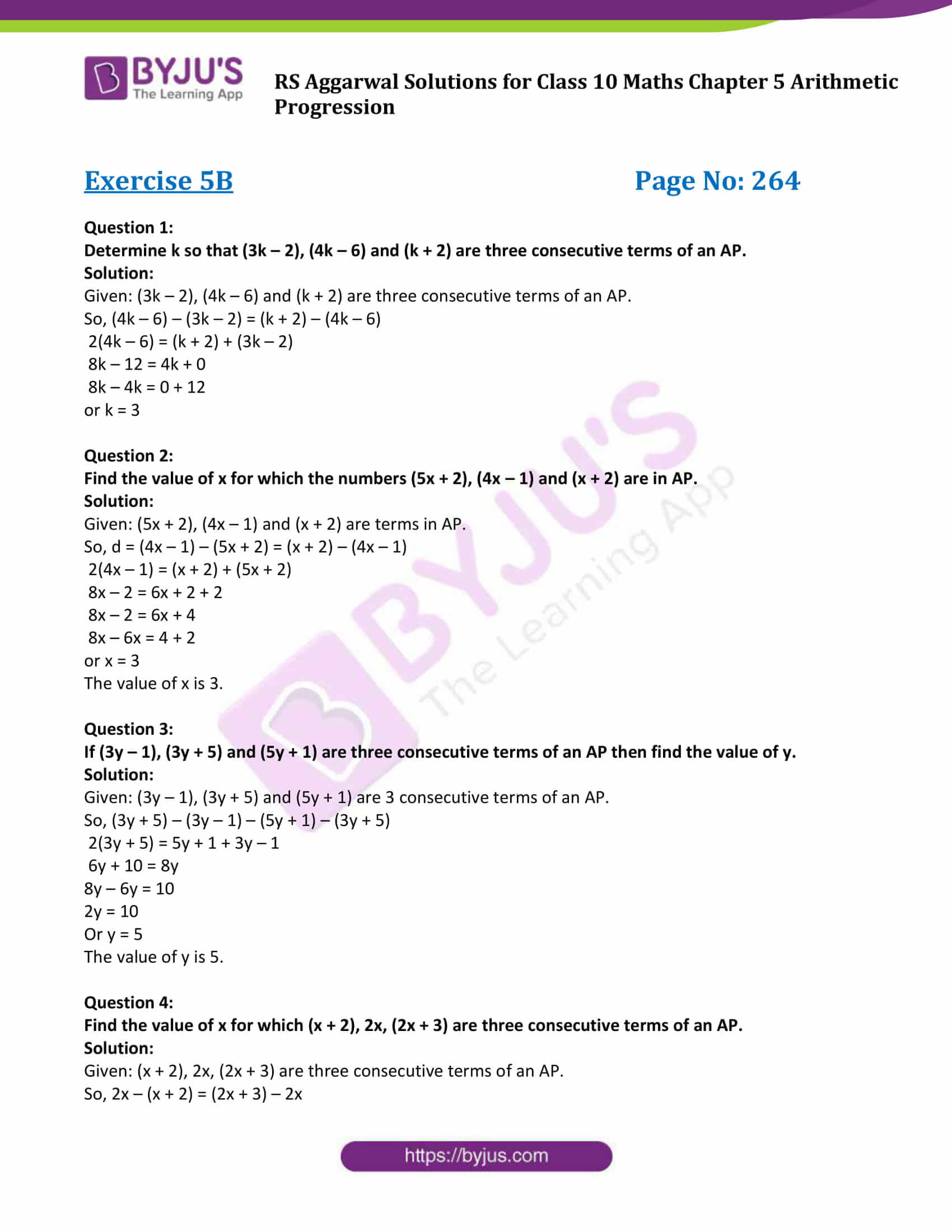 rsaggarwal solution class 10 maths chapter 5 exercise 5b 1