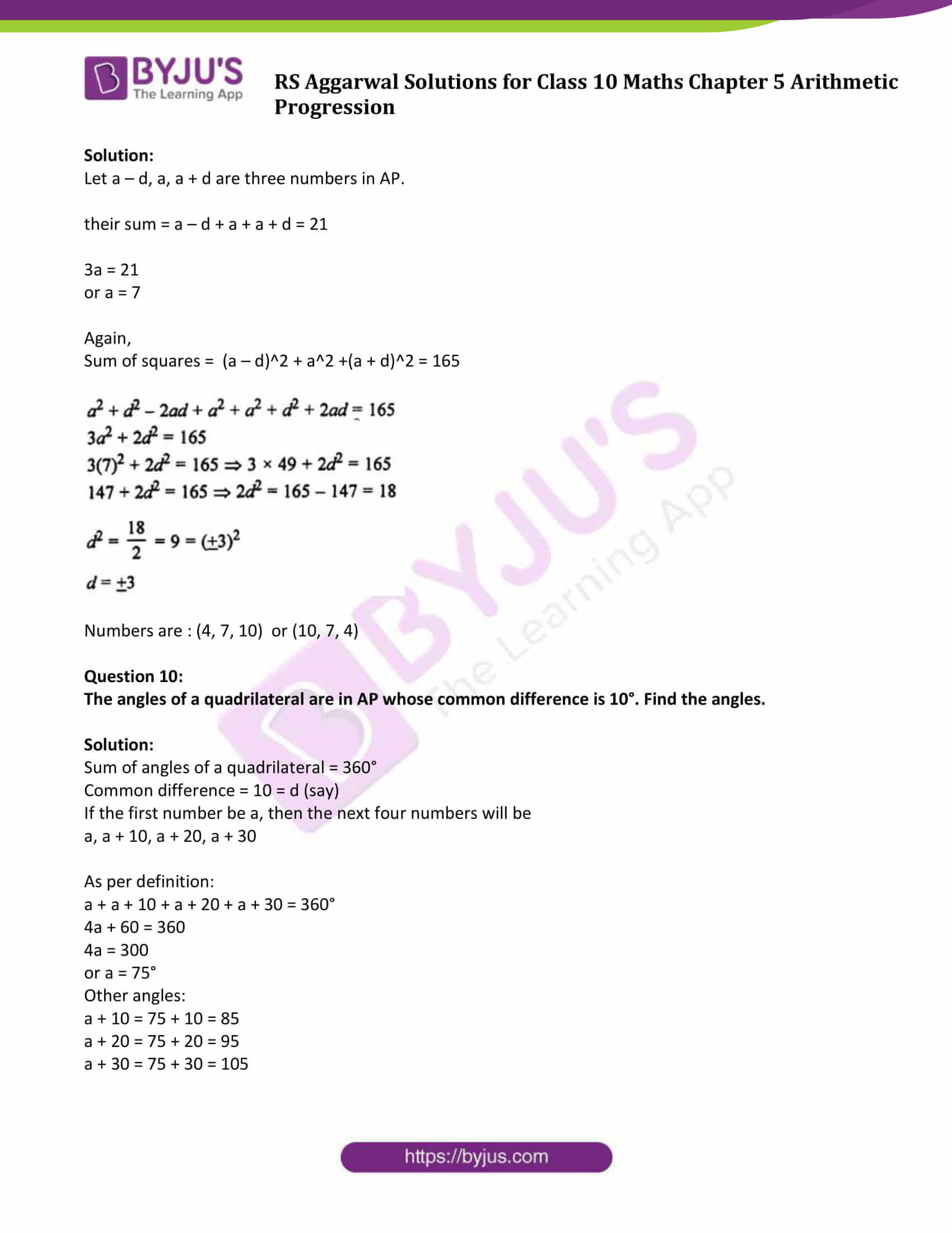 rsaggarwal solution class 10 maths chapter 5 exercise 5b 4