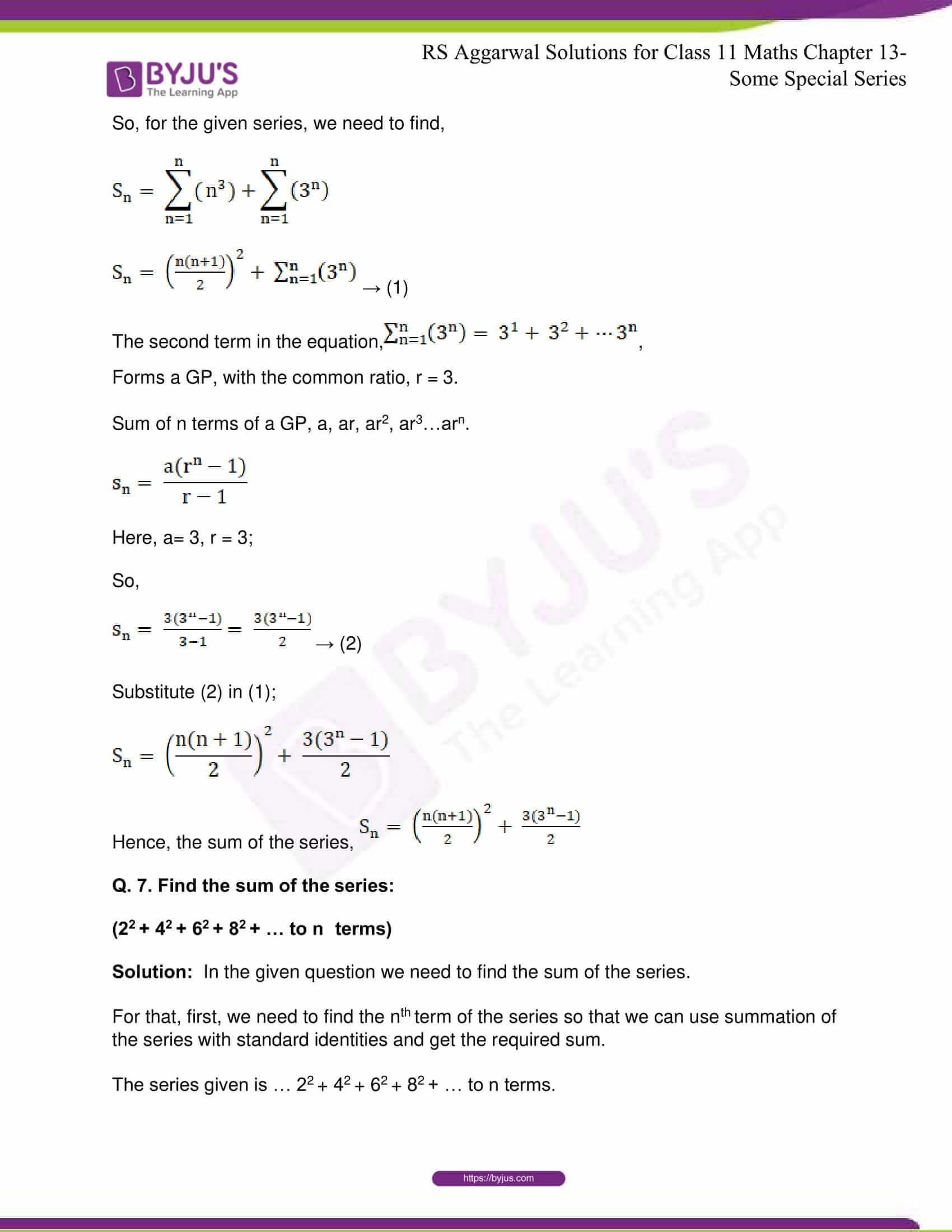 rsaggarwal solutions class 11 maths chapter 13 11