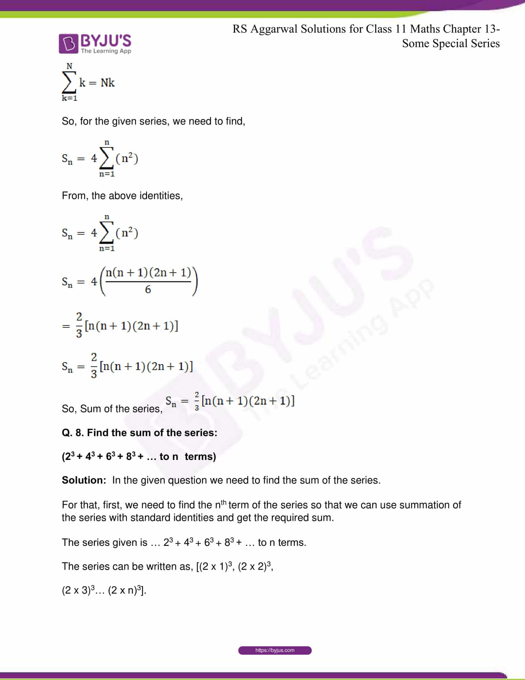 rsaggarwal solutions class 11 maths chapter 13 13