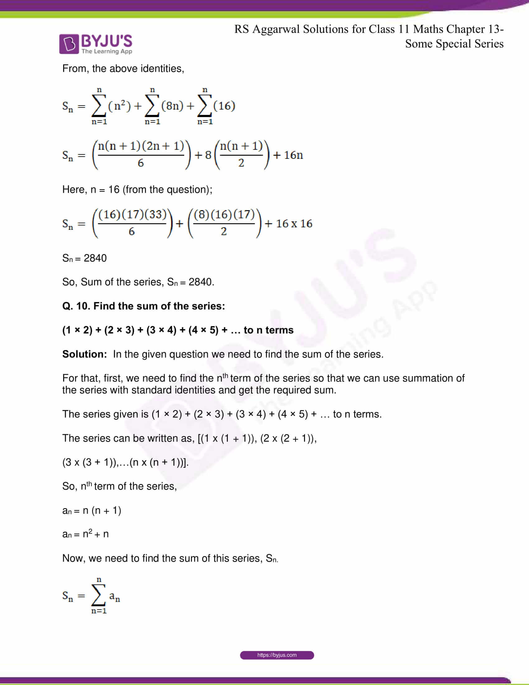 rsaggarwal solutions class 11 maths chapter 13 17