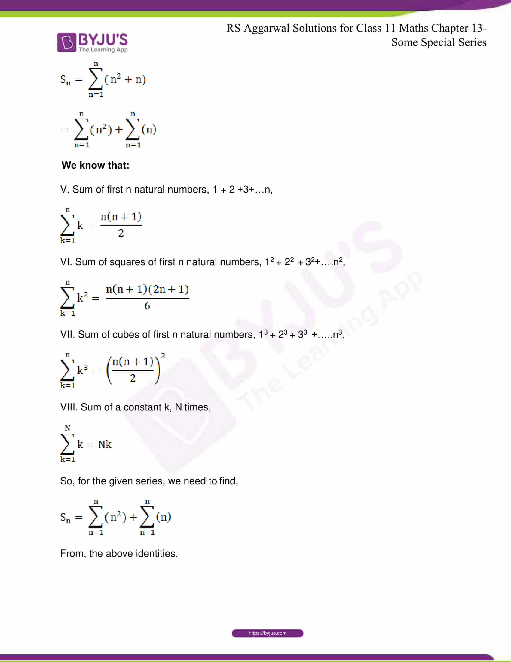 rsaggarwal solutions class 11 maths chapter 13 18