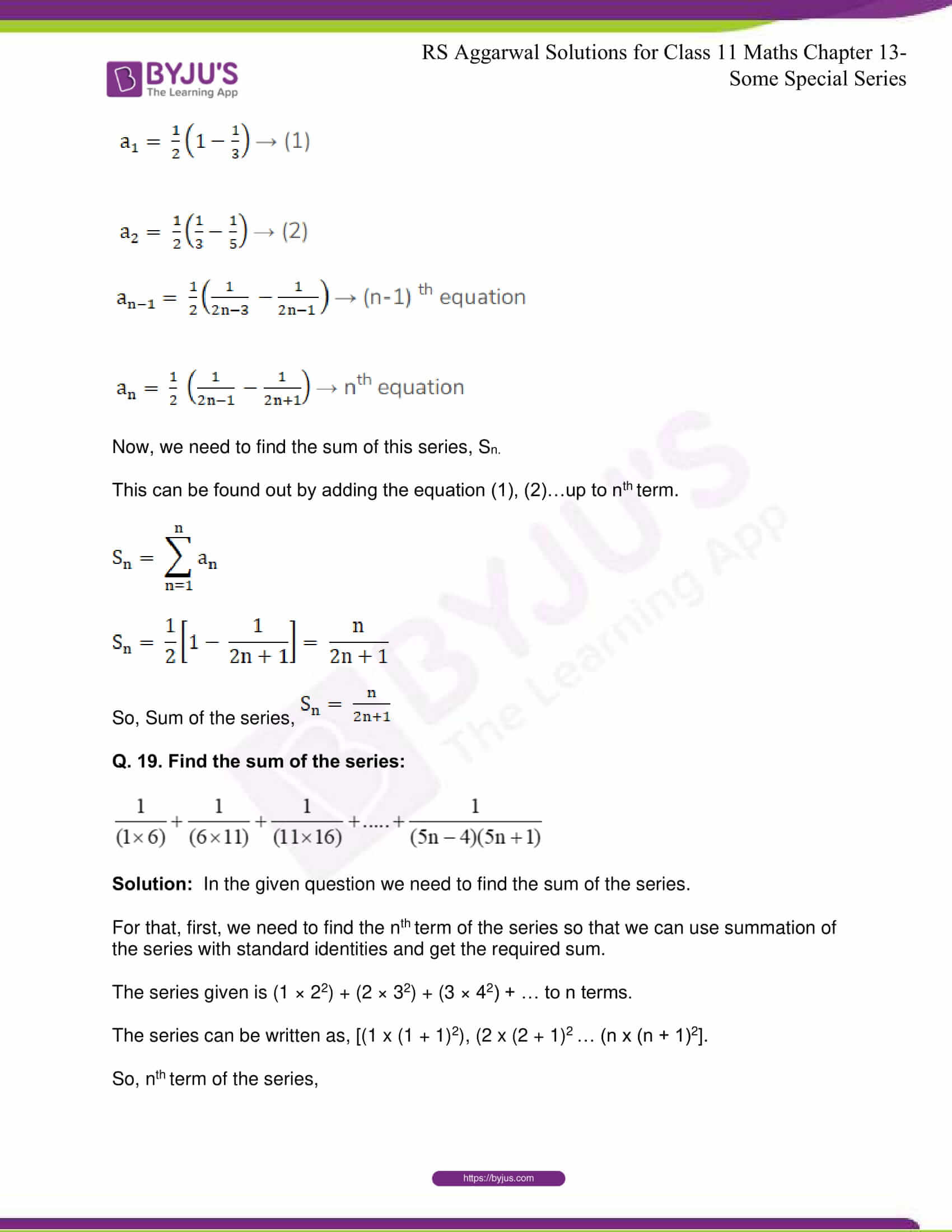 rsaggarwal solutions class 11 maths chapter 13 33