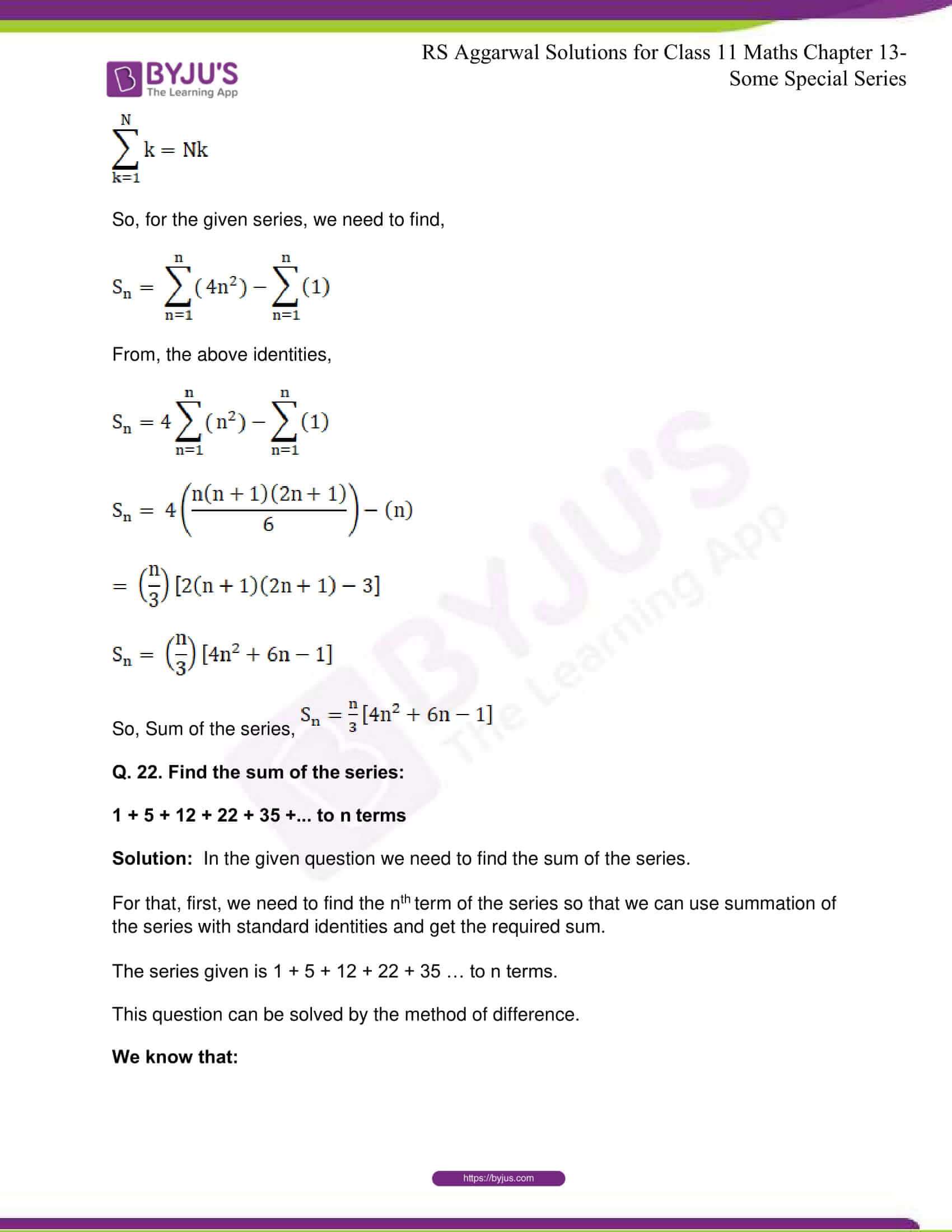 rsaggarwal solutions class 11 maths chapter 13 39