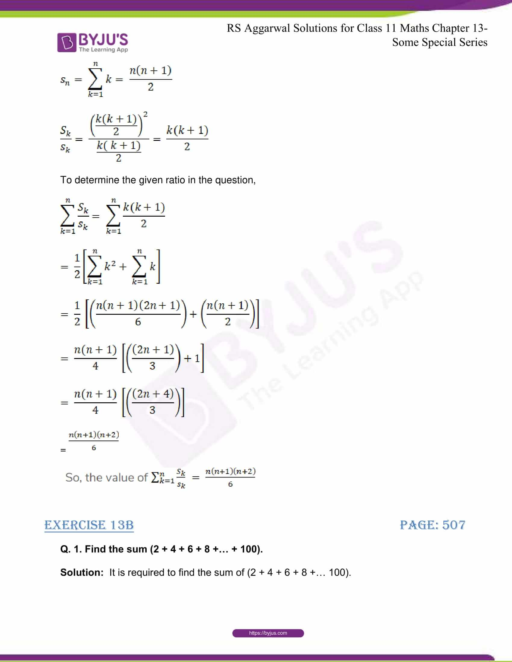 rsaggarwal solutions class 11 maths chapter 13 49
