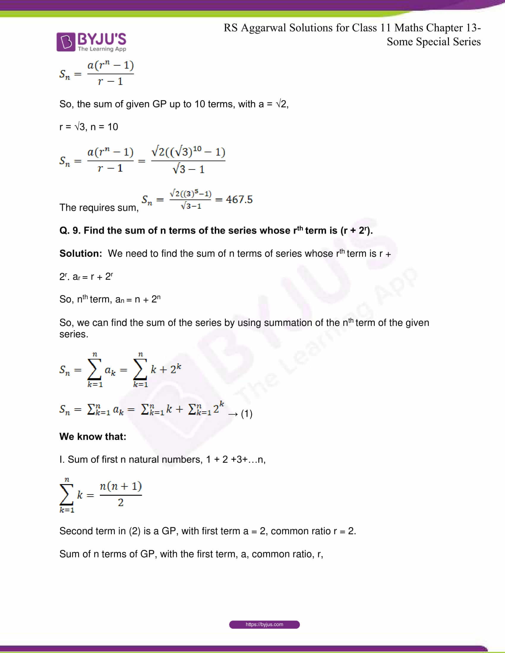 rsaggarwal solutions class 11 maths chapter 13 56
