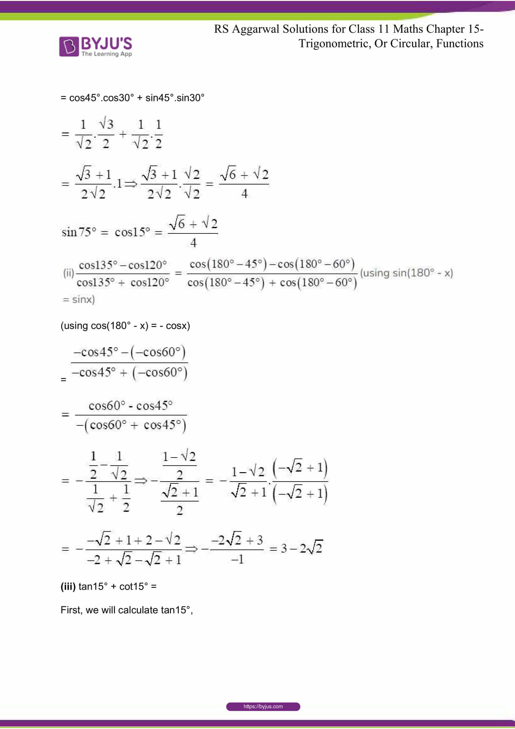 rsaggarwal solutions class 11 maths chapter 15 037
