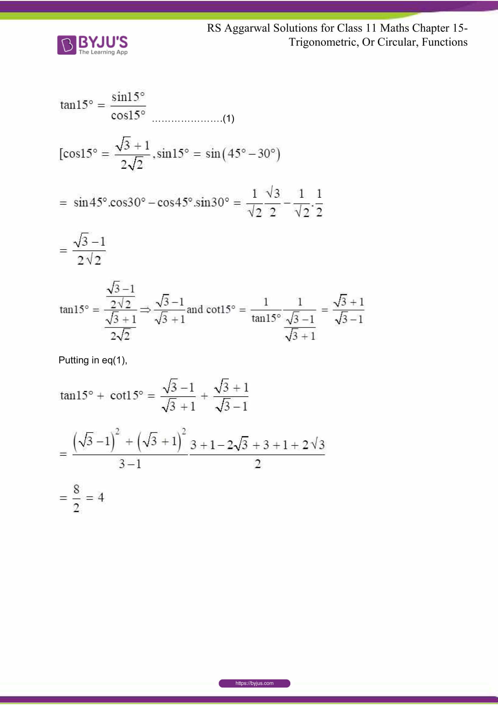 rsaggarwal solutions class 11 maths chapter 15 038