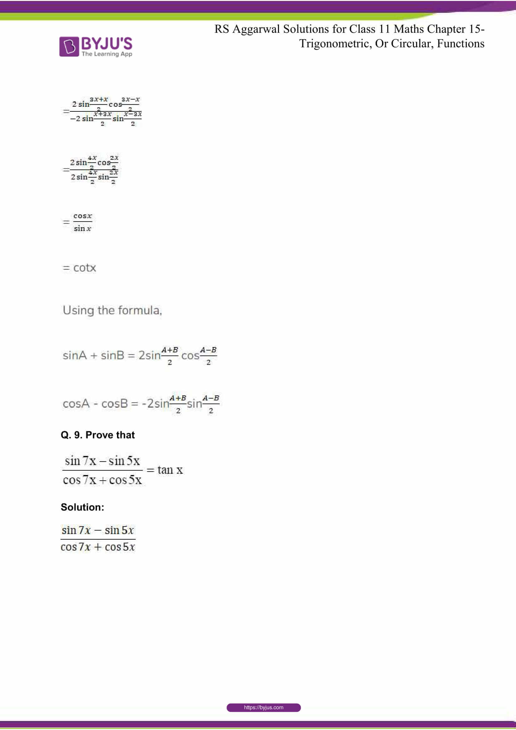 rsaggarwal solutions class 11 maths chapter 15 056