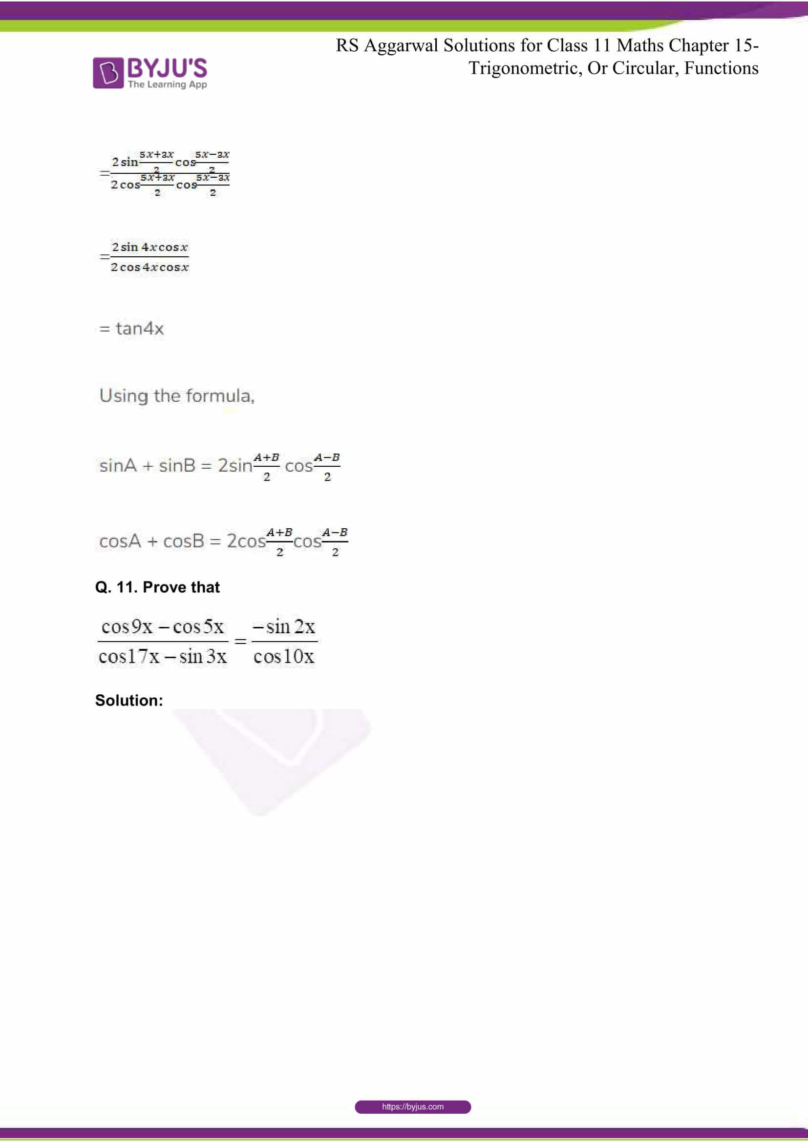 rsaggarwal solutions class 11 maths chapter 15 058