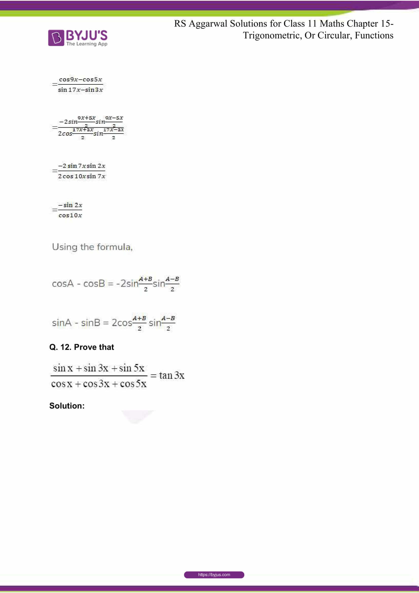 rsaggarwal solutions class 11 maths chapter 15 059