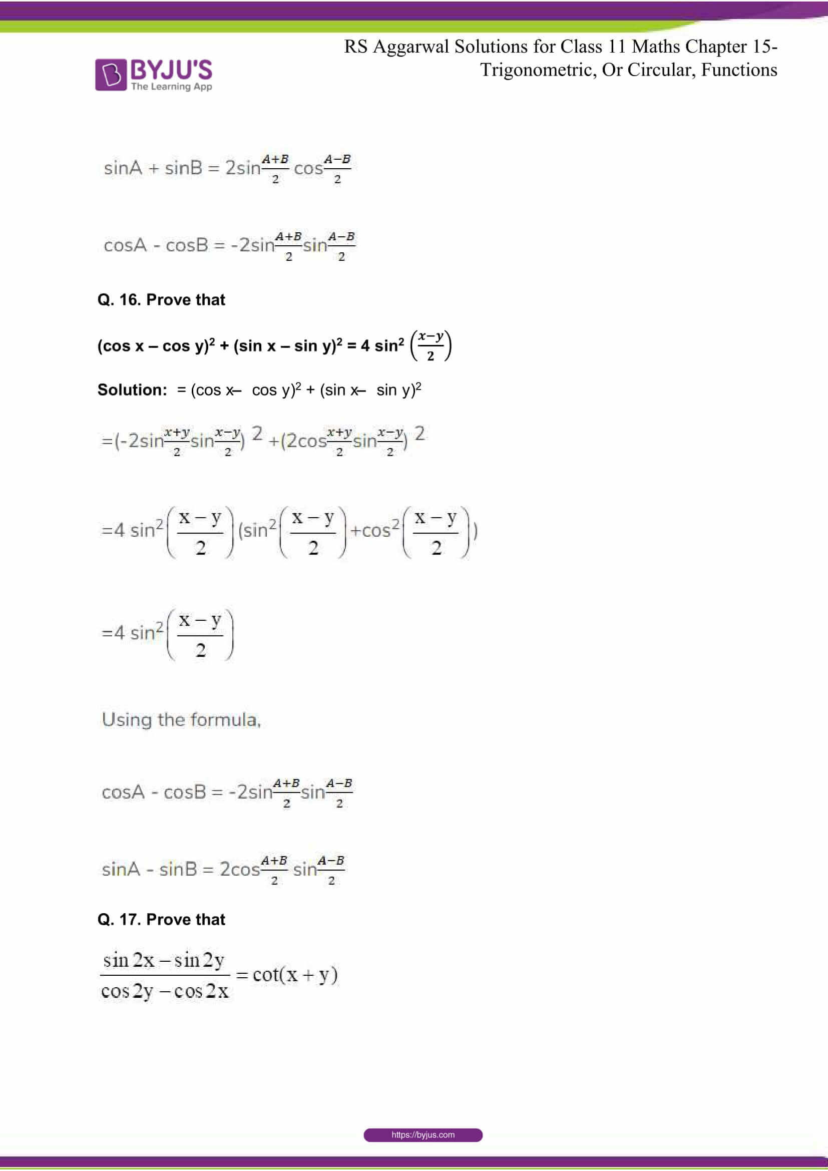 rsaggarwal solutions class 11 maths chapter 15 064