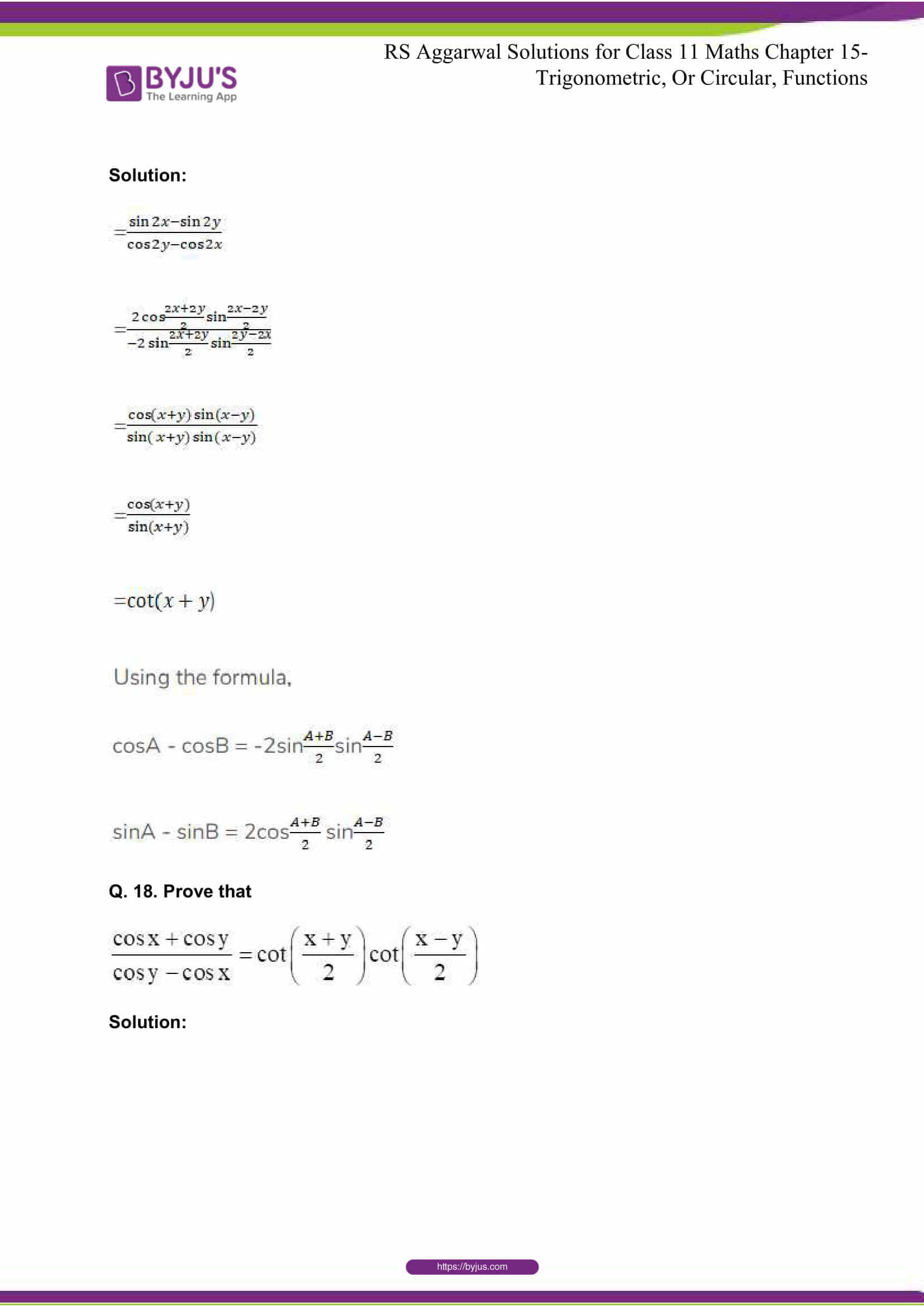 rsaggarwal solutions class 11 maths chapter 15 065