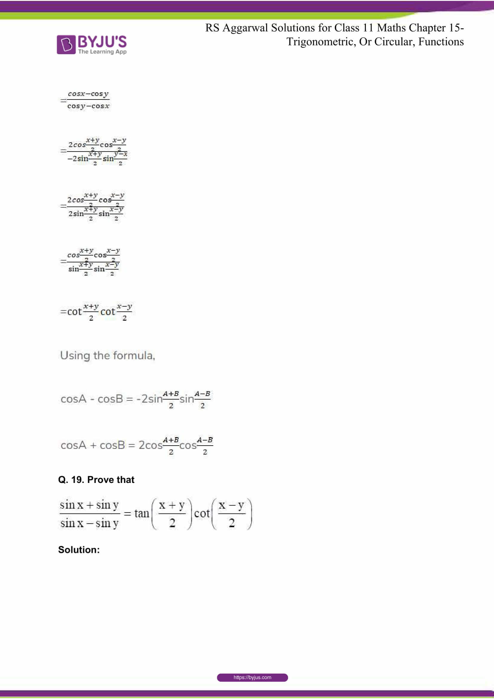 rsaggarwal solutions class 11 maths chapter 15 066
