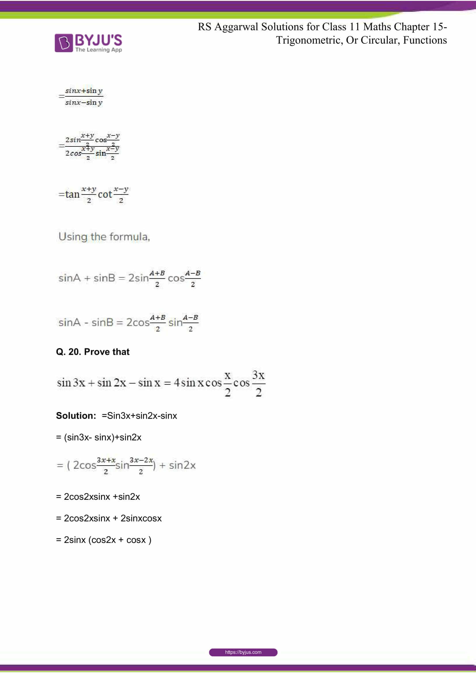 rsaggarwal solutions class 11 maths chapter 15 067
