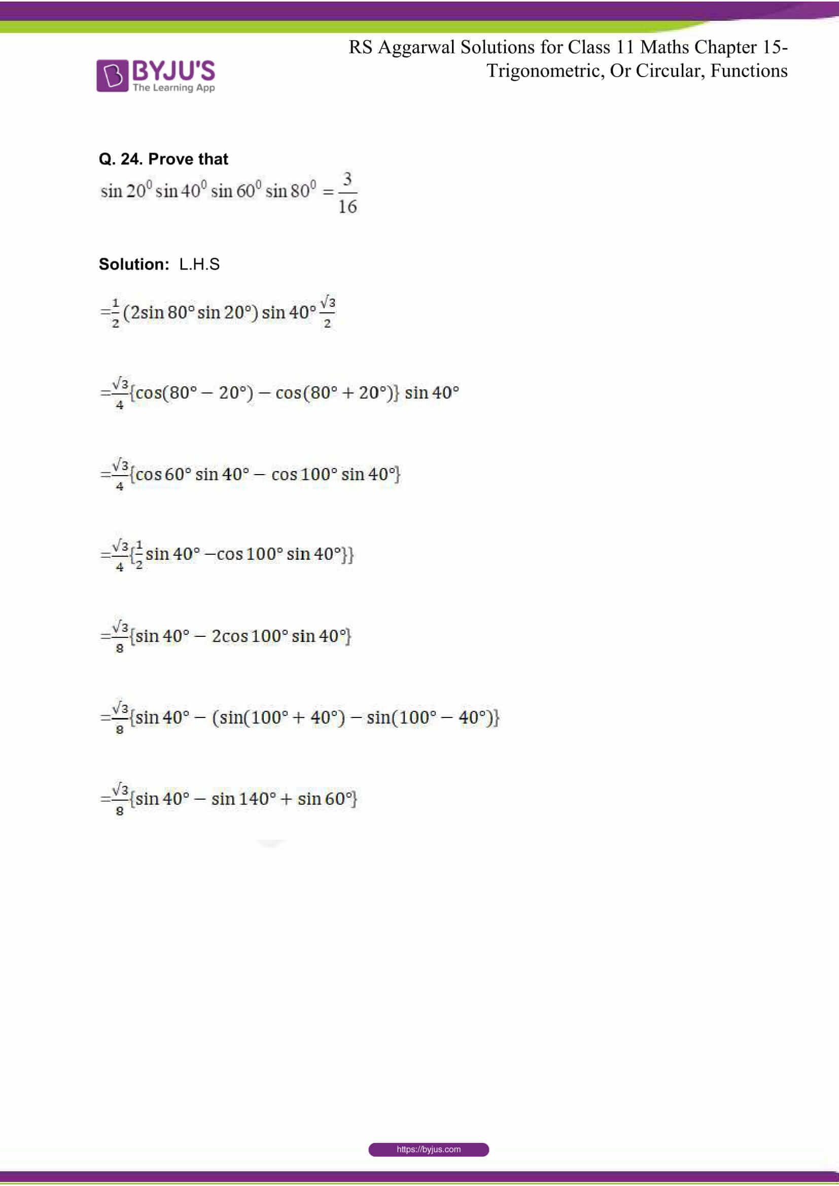 rsaggarwal solutions class 11 maths chapter 15 072