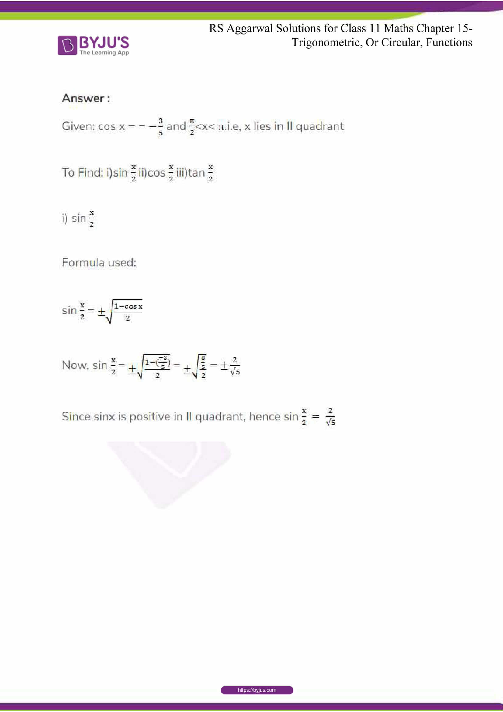 rsaggarwal solutions class 11 maths chapter 15 116