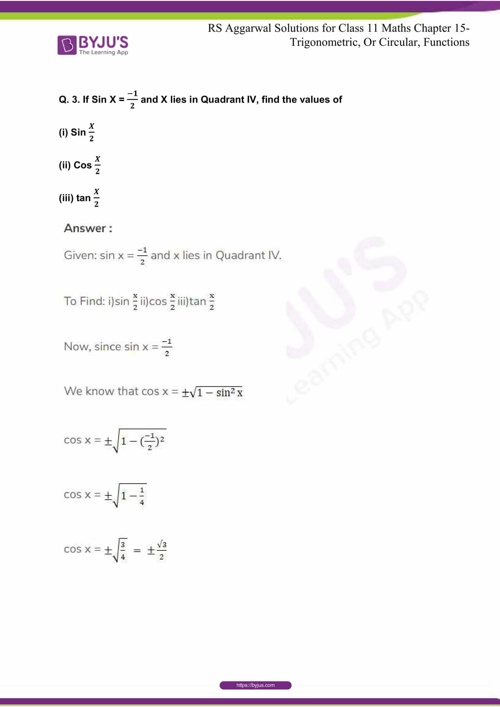 rsaggarwal solutions class 11 maths chapter 15 118