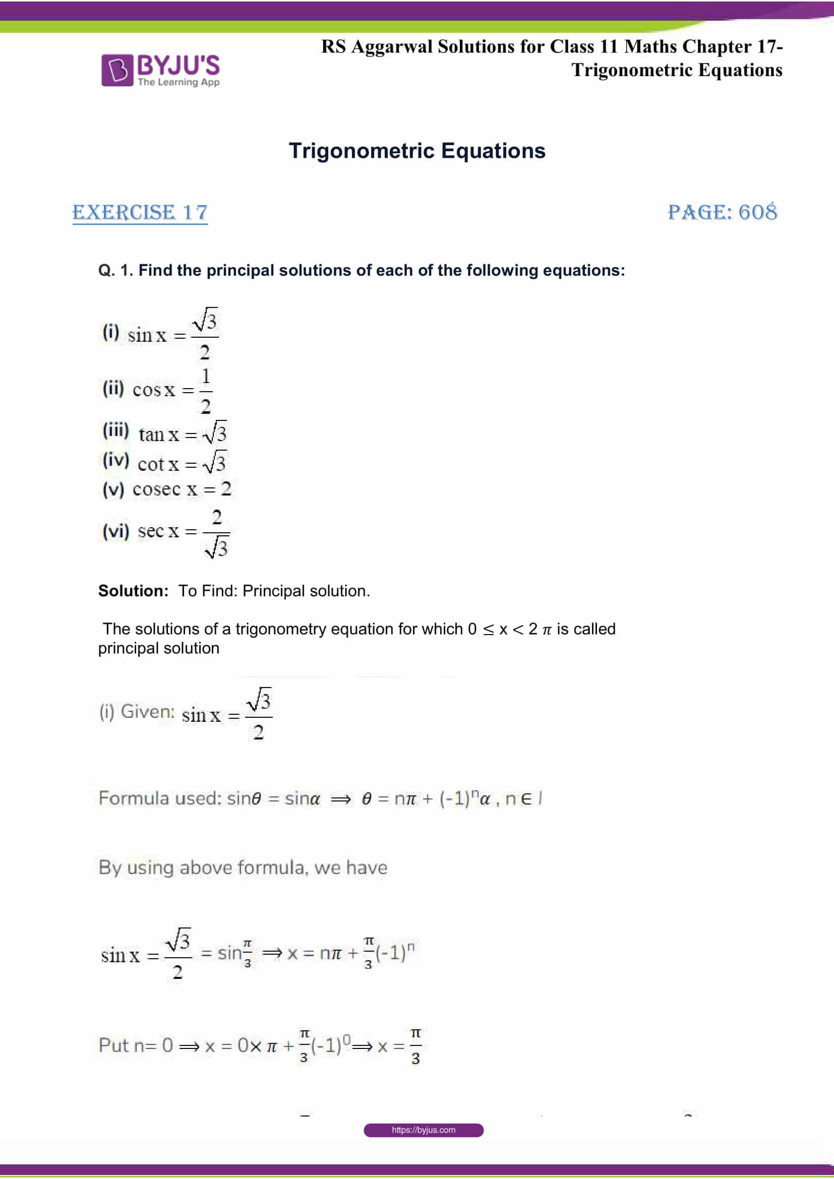 rsaggarwal solutions class 11 maths chapter 17 01