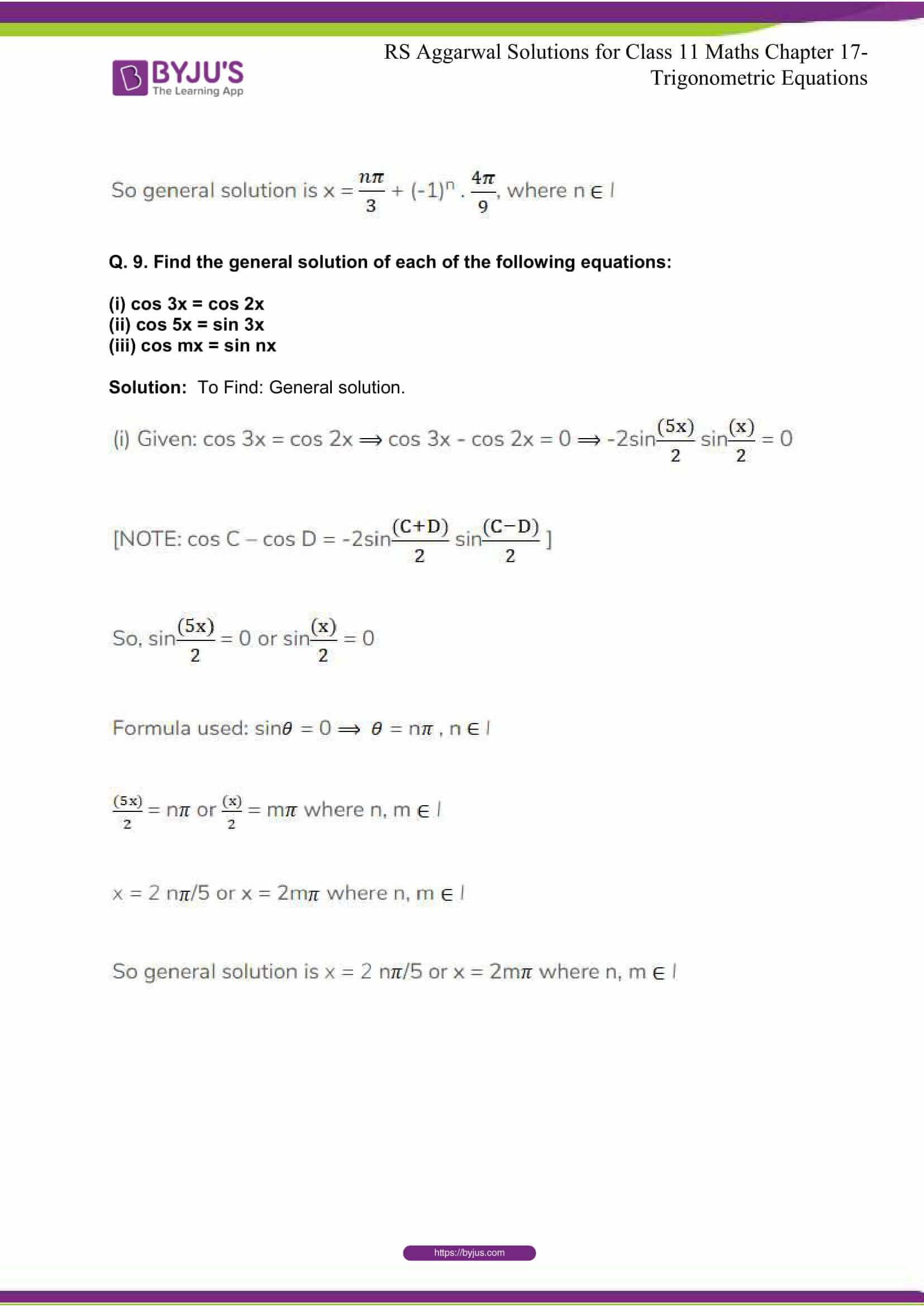 rsaggarwal solutions class 11 maths chapter 17 33