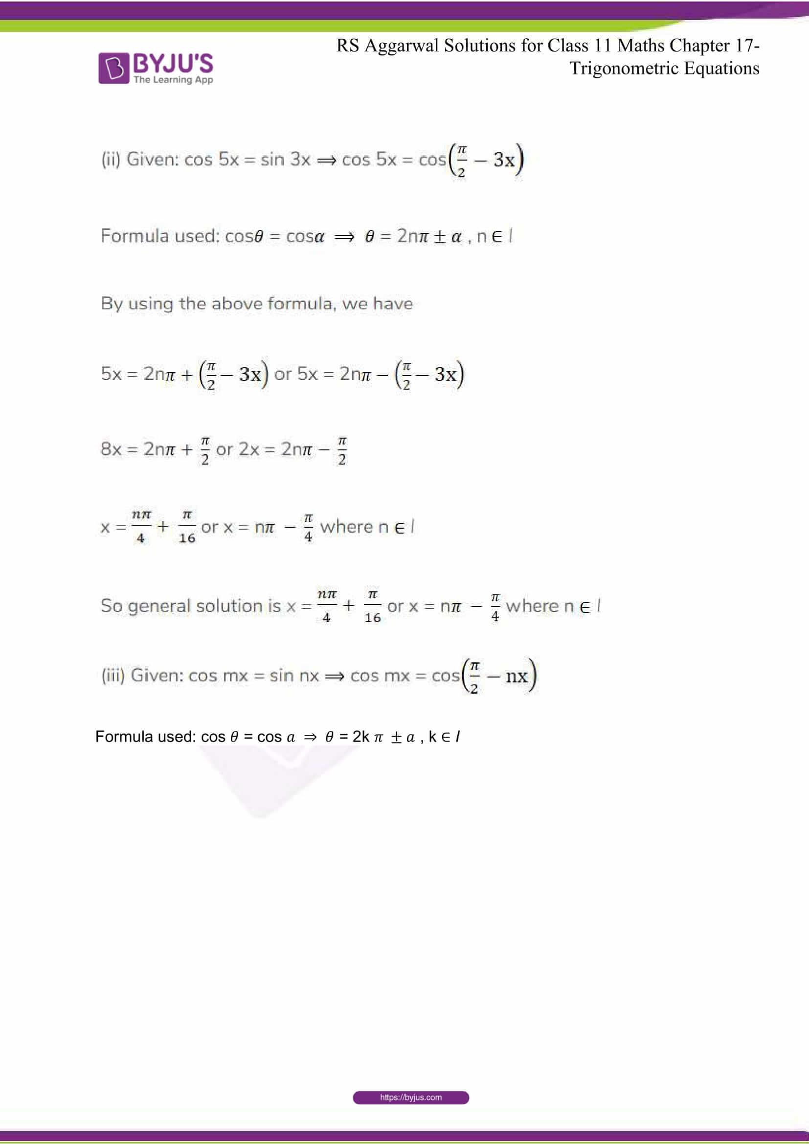 rsaggarwal solutions class 11 maths chapter 17 34