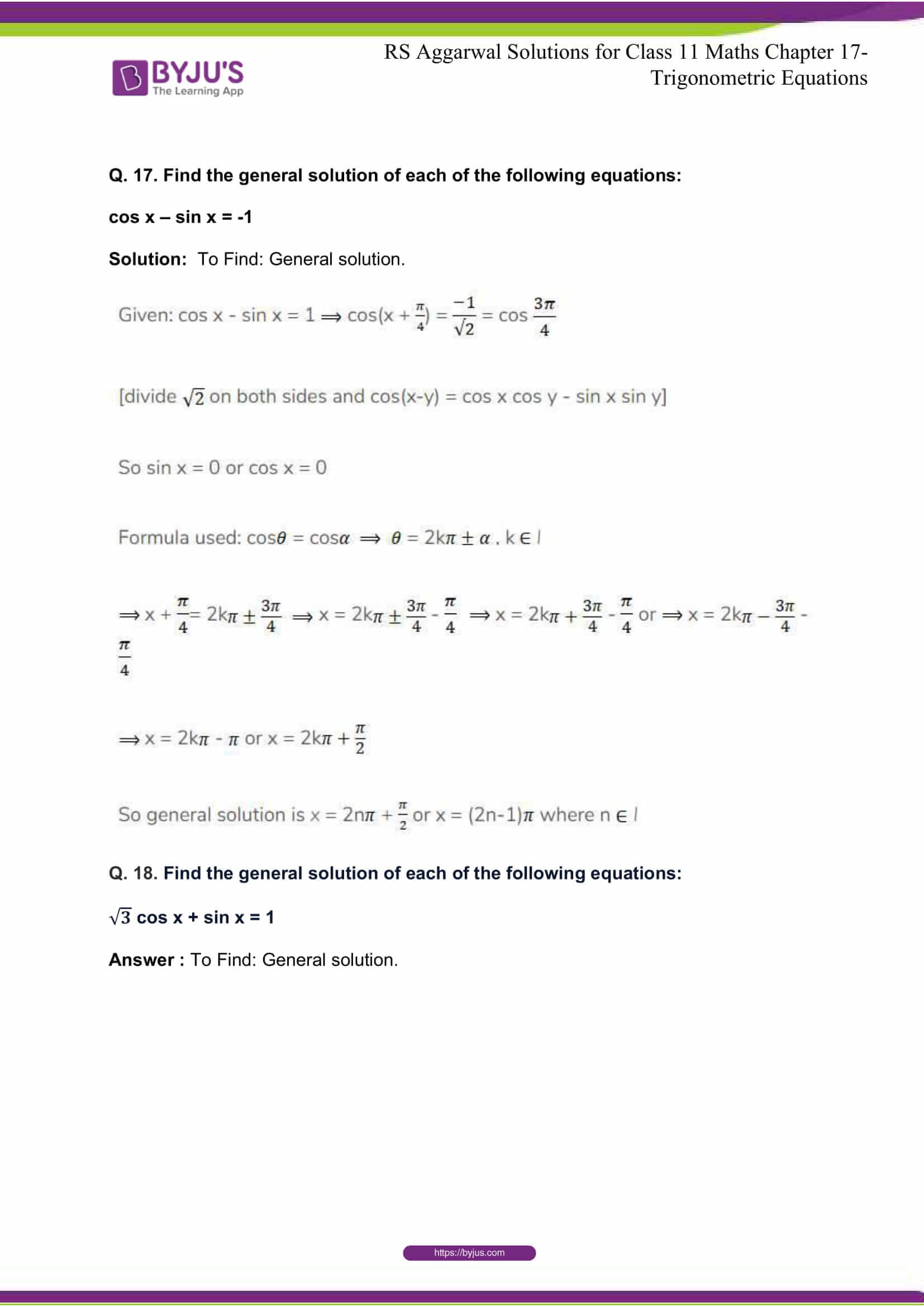 rsaggarwal solutions class 11 maths chapter 17 40