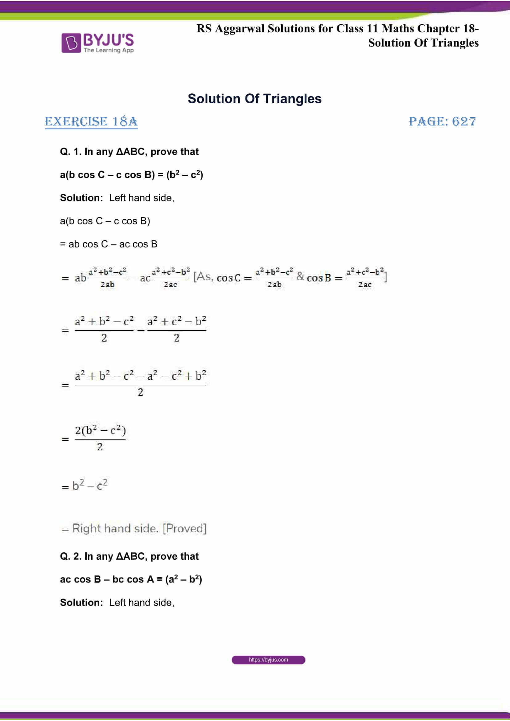 rsaggarwal solutions class 11 maths chapter 18 01