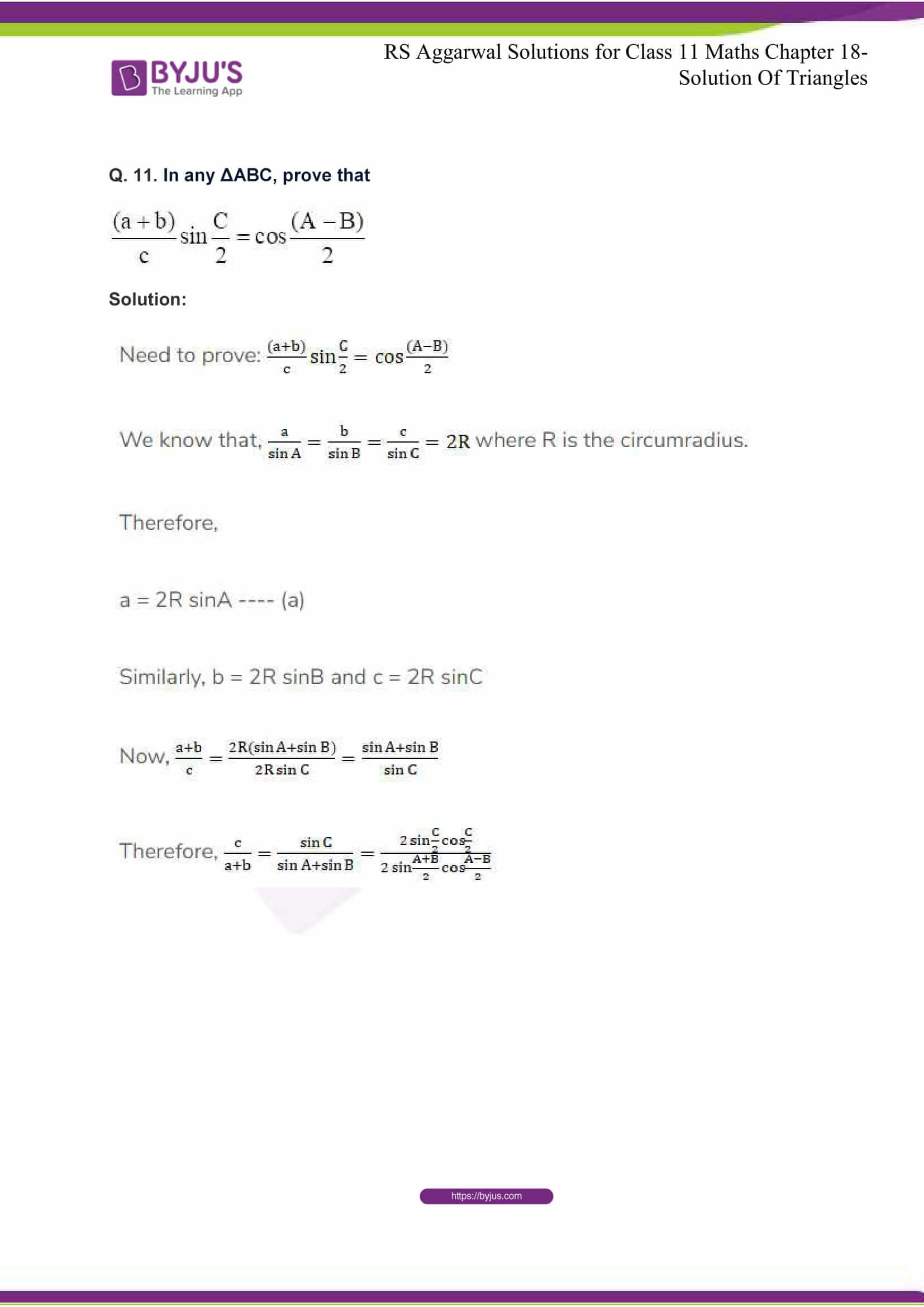rsaggarwal solutions class 11 maths chapter 18 11
