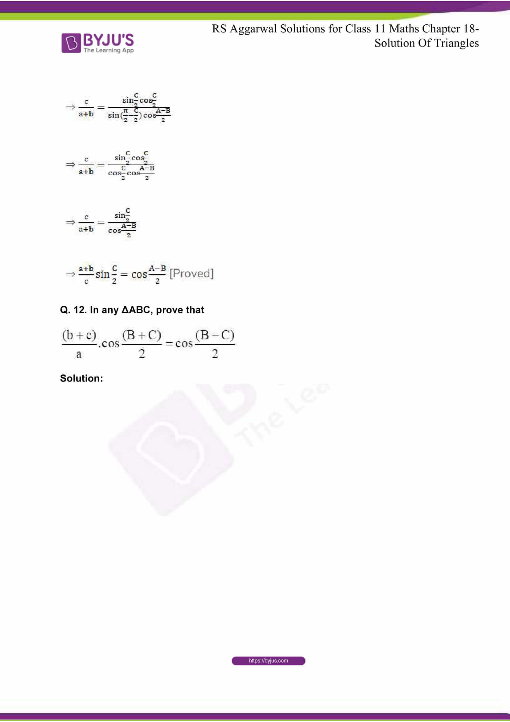 rsaggarwal solutions class 11 maths chapter 18 12