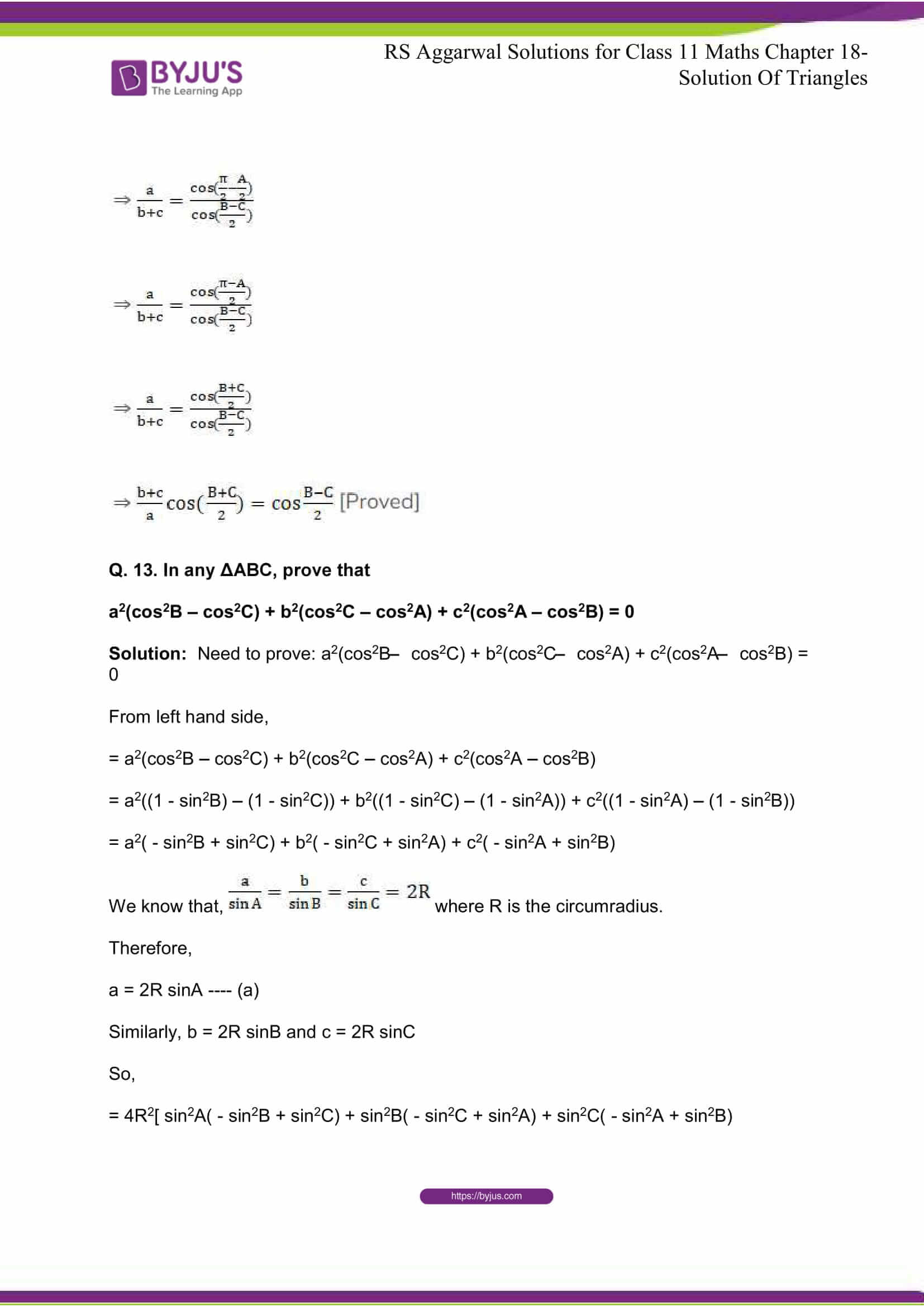 rsaggarwal solutions class 11 maths chapter 18 14