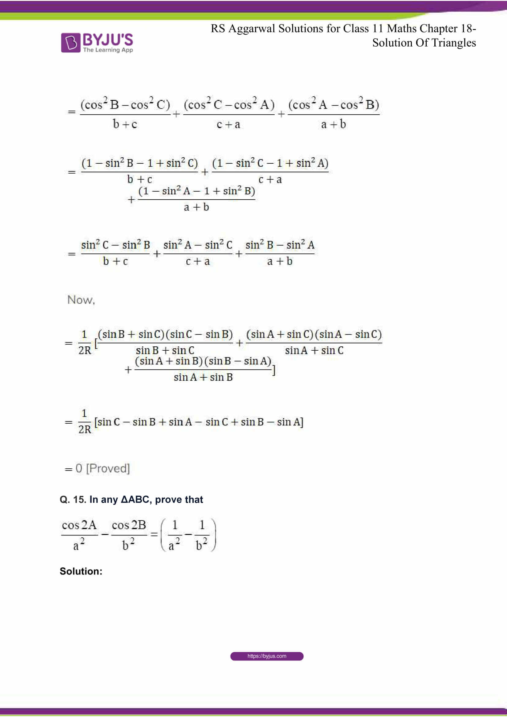 rsaggarwal solutions class 11 maths chapter 18 16