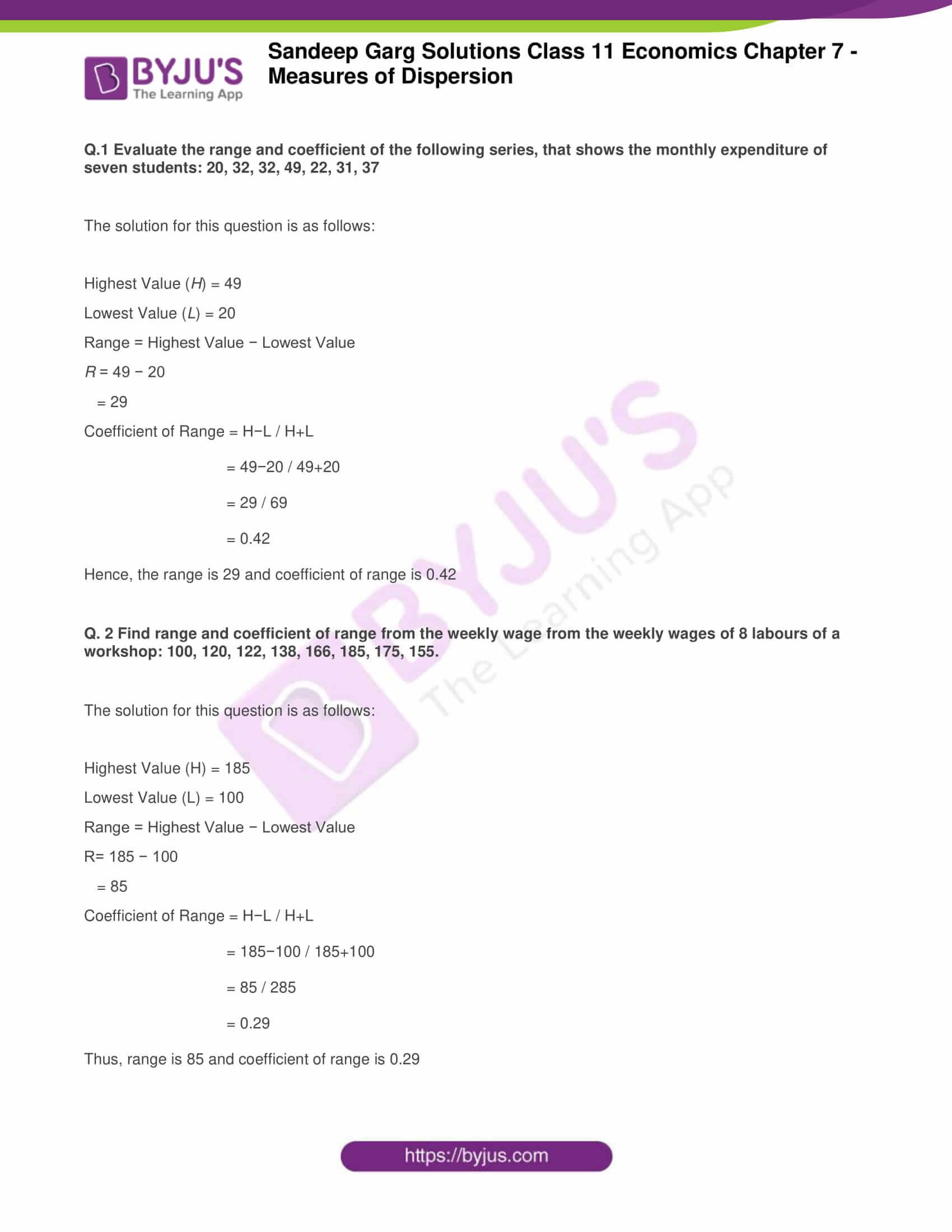 sandeep garg solutions class 11 economics chapter 7 1