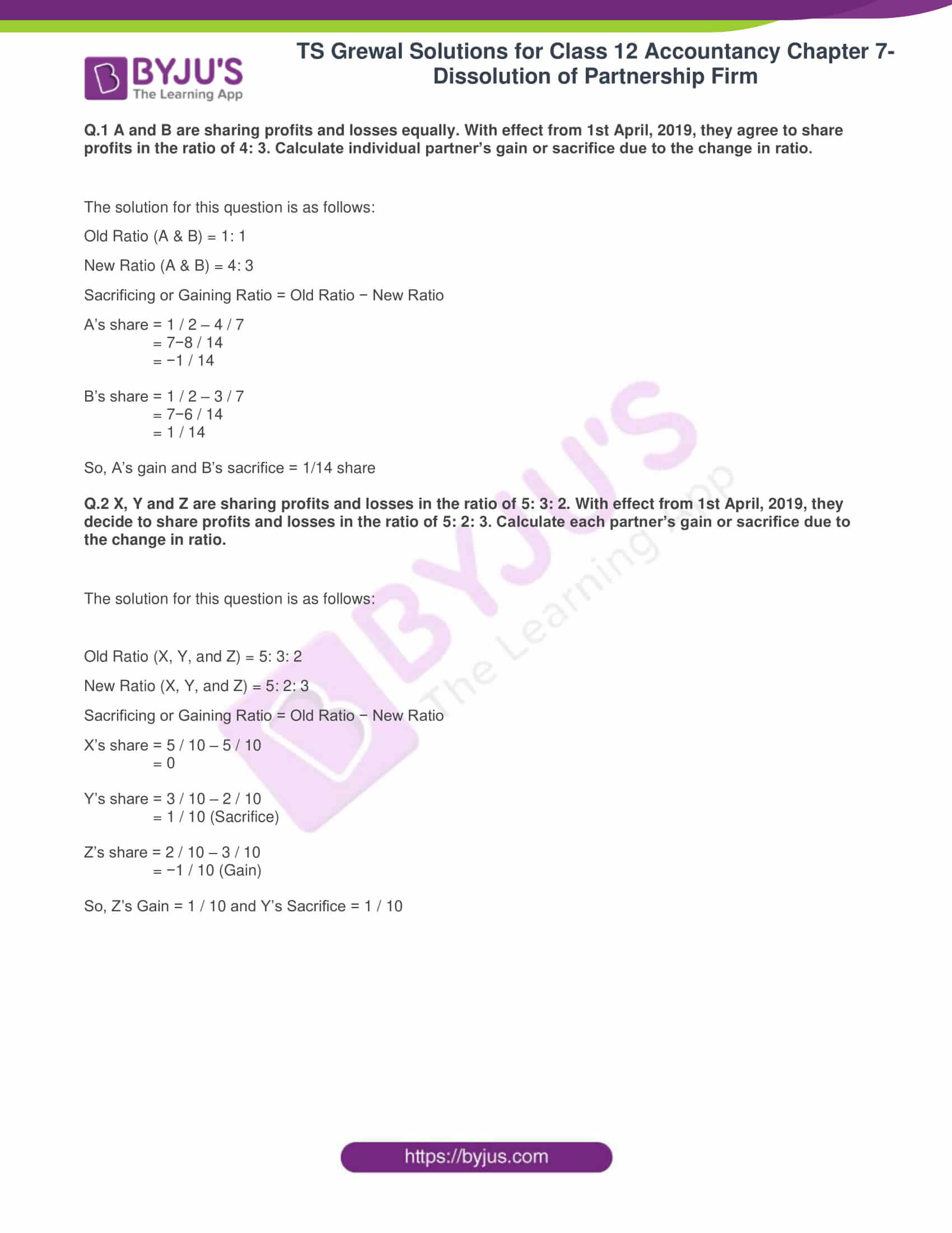 ts grewal solutions class 12 accountancy vol 1 chapter 4 change in profit 01