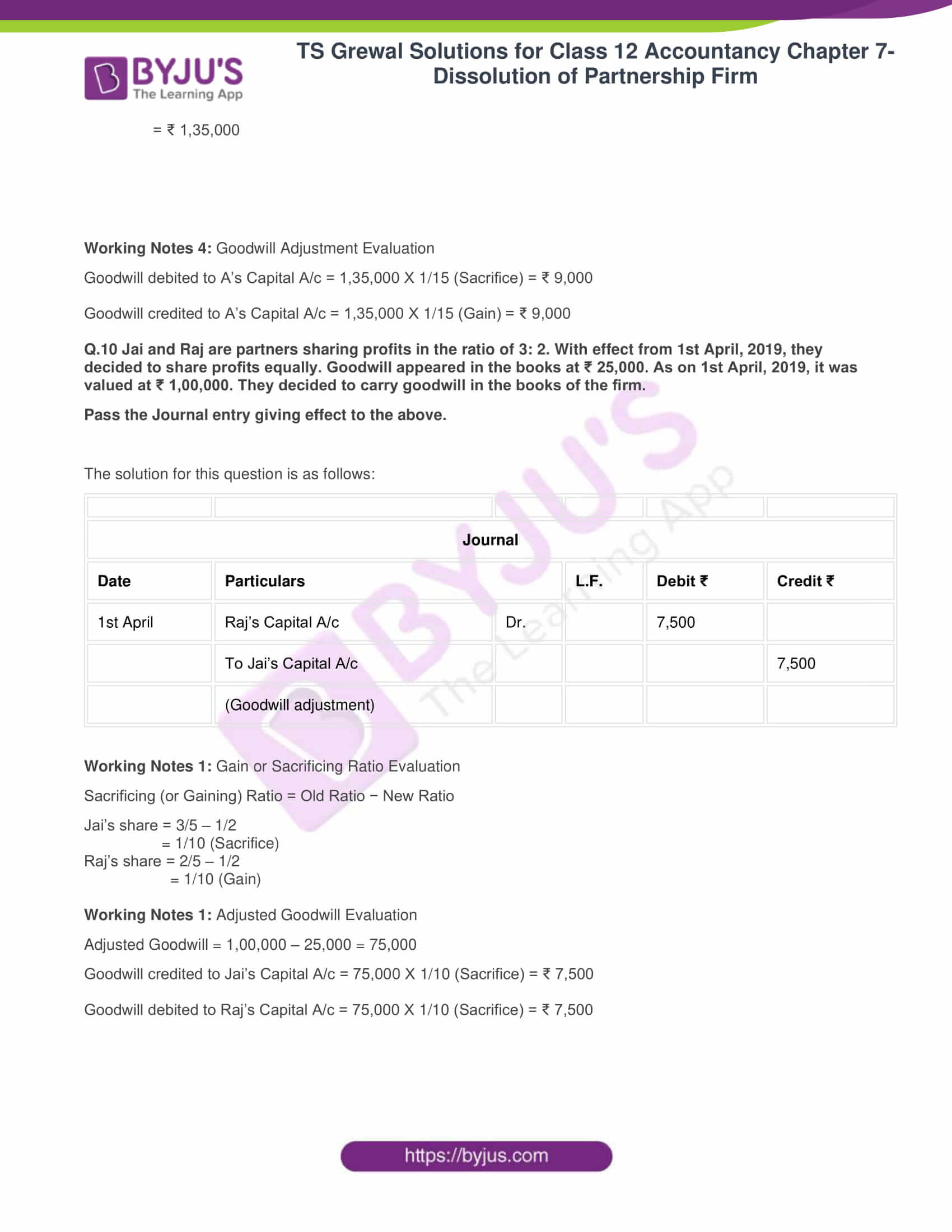 ts grewal solutions class 12 accountancy vol 1 chapter 4 change in profit 12