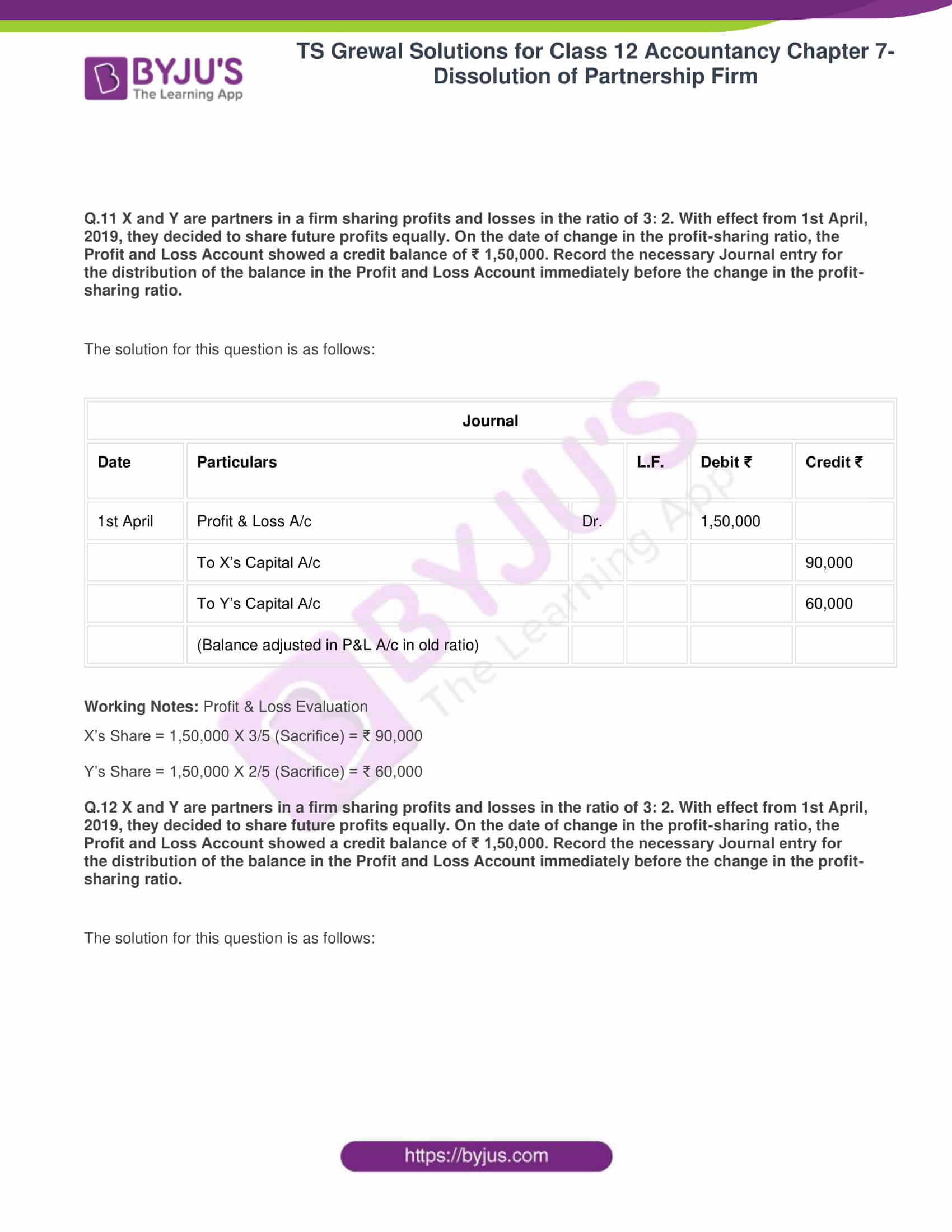 ts grewal solutions class 12 accountancy vol 1 chapter 4 change in profit 13