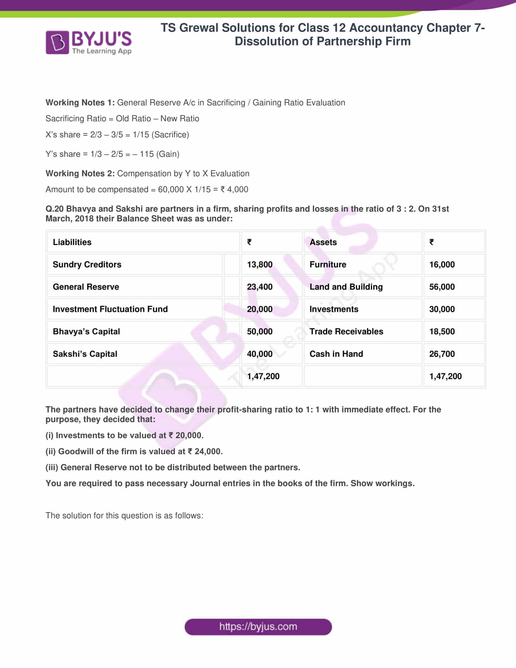 ts grewal solutions class 12 accountancy vol 1 chapter 4 change in profit 22